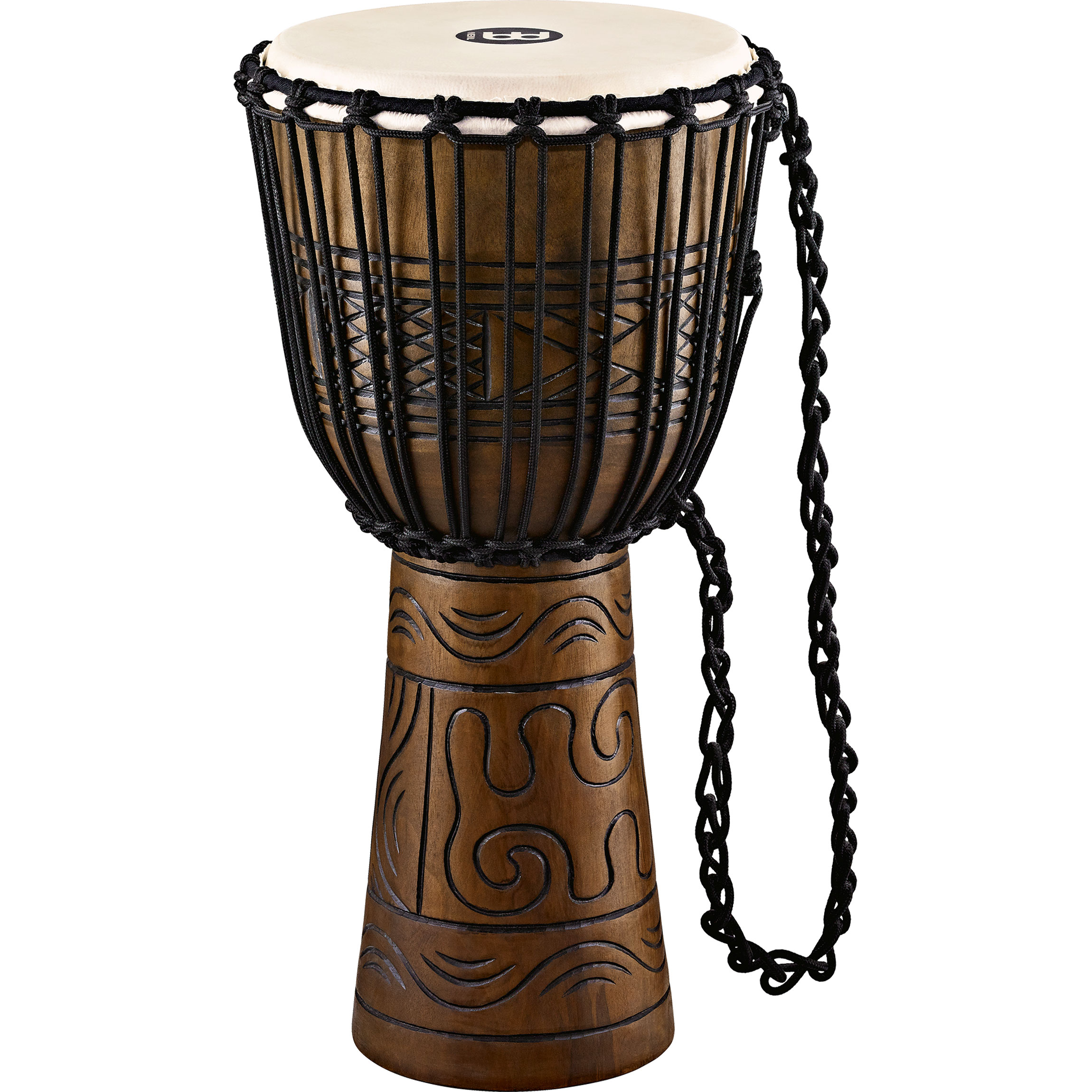 "Meinl 12"" Rope Tuned Headliner Artifact Series Wood Djembe"