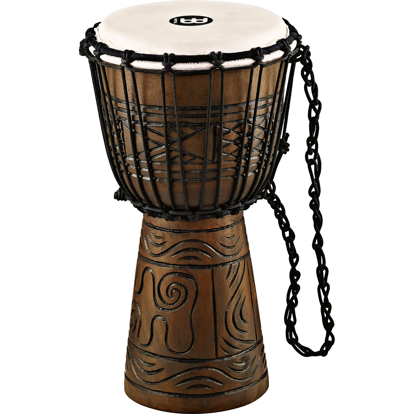 "Meinl 8"" Rope Tuned Headliner Artifact Series Wood Djembe"