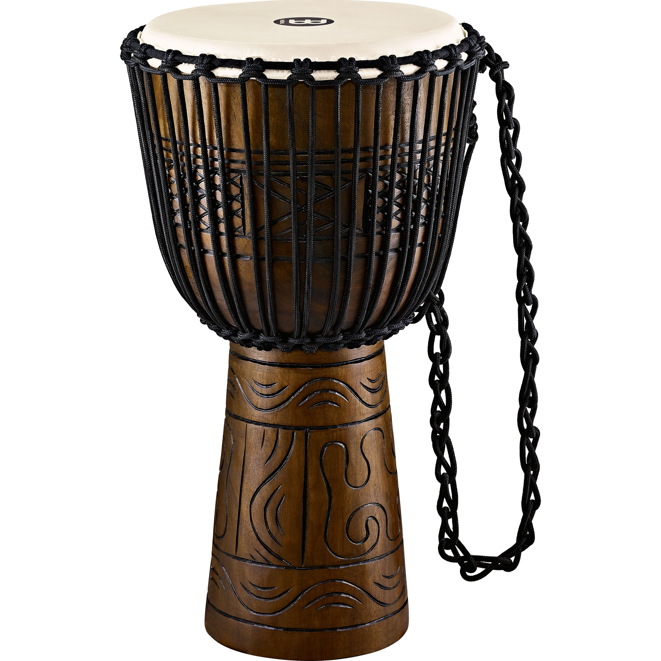 "Meinl 13"" Rope Tuned Headliner Artifact Series Wood Djembe"