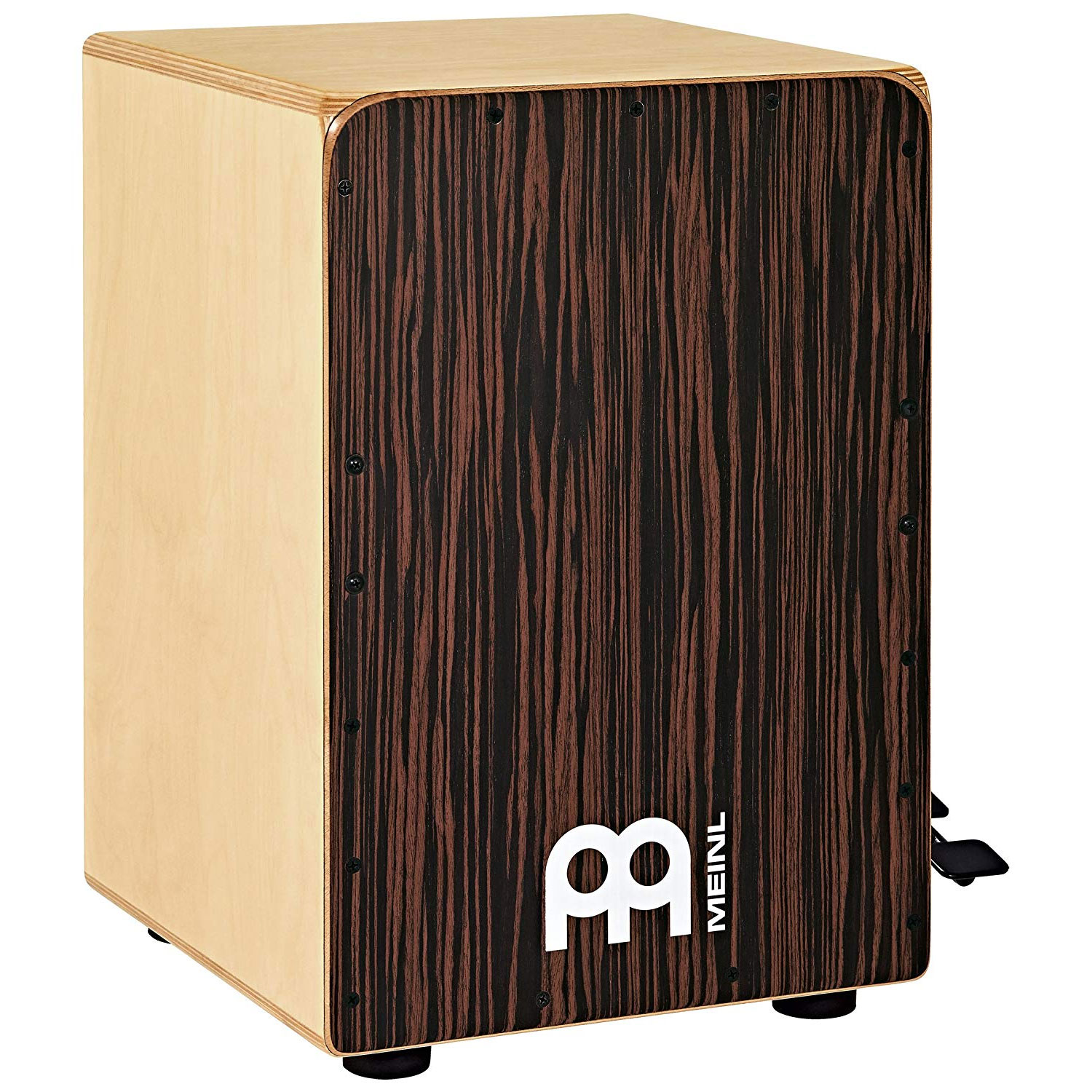 Meinl Ebony Bass Cajon with Snare Pedal with Ebony Frontplate