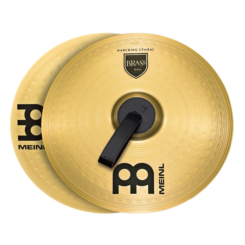 "Meinl 14"" Medium Brass Student Marching Cymbals Pair"