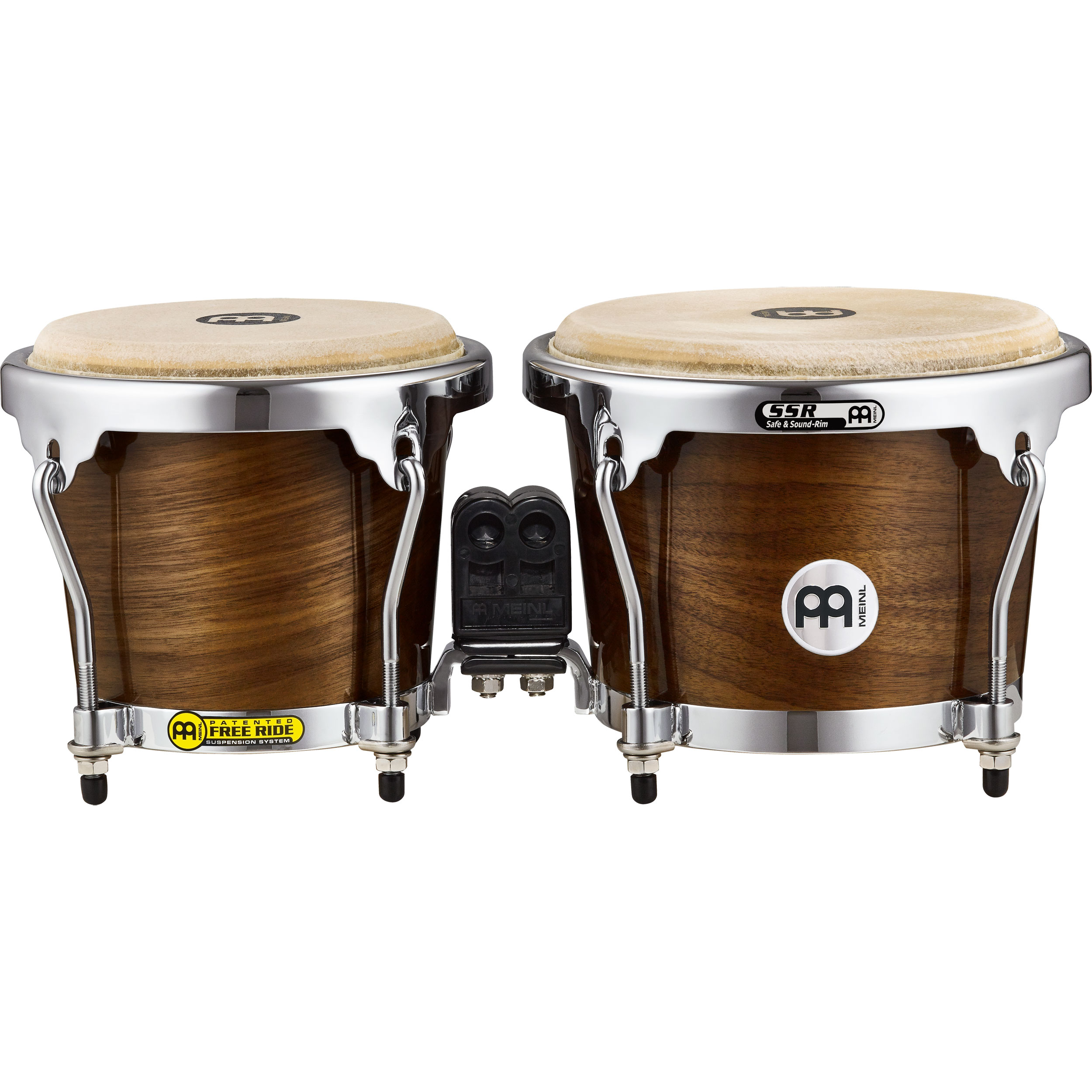 "Meinl 6.75"" & 8"" Radial Ply Construction (RAPC) Wood Bongos in Walnut"