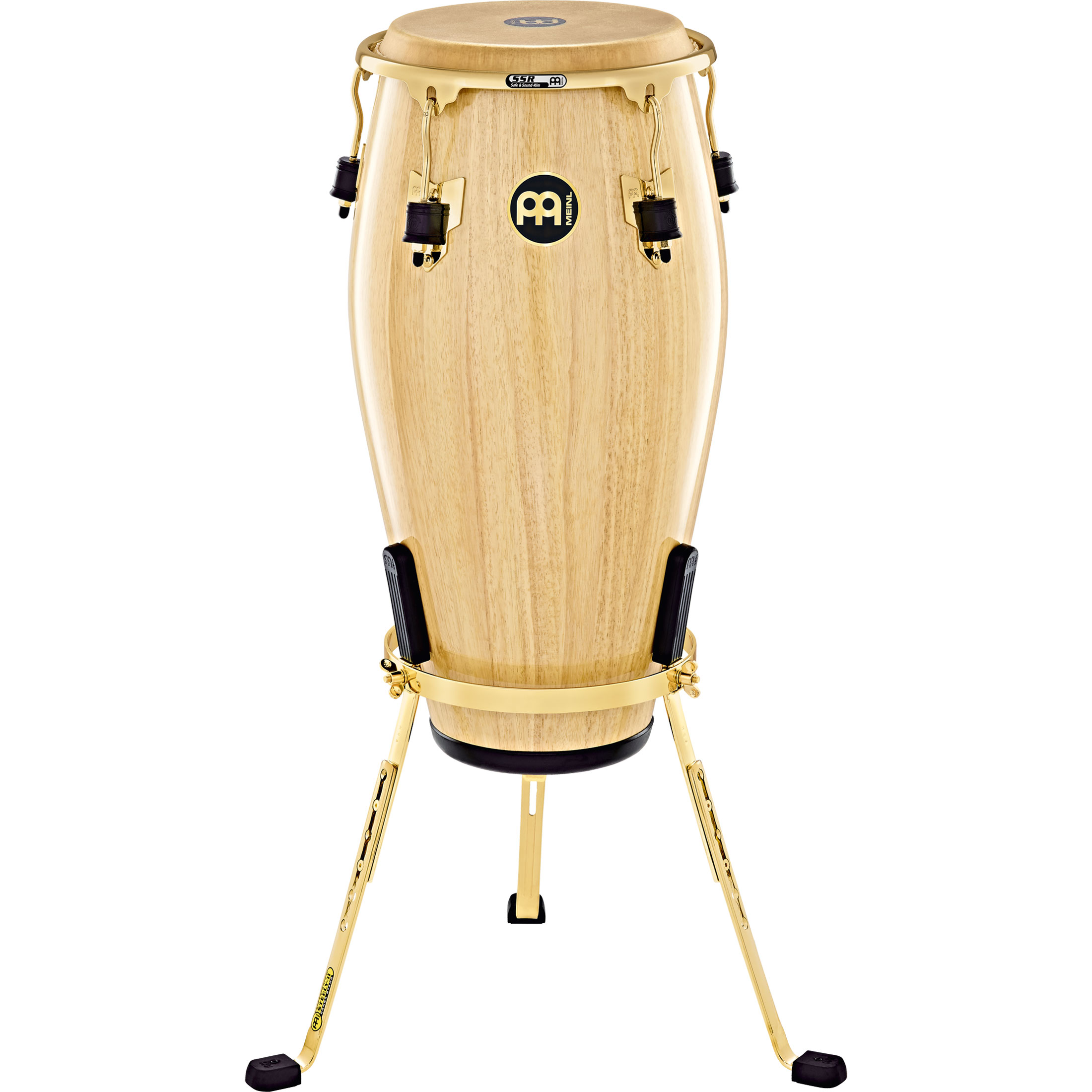 """Meinl 12.5"""" Marathon Exclusive Tumba Conga in Natural with Gold Hardware"""