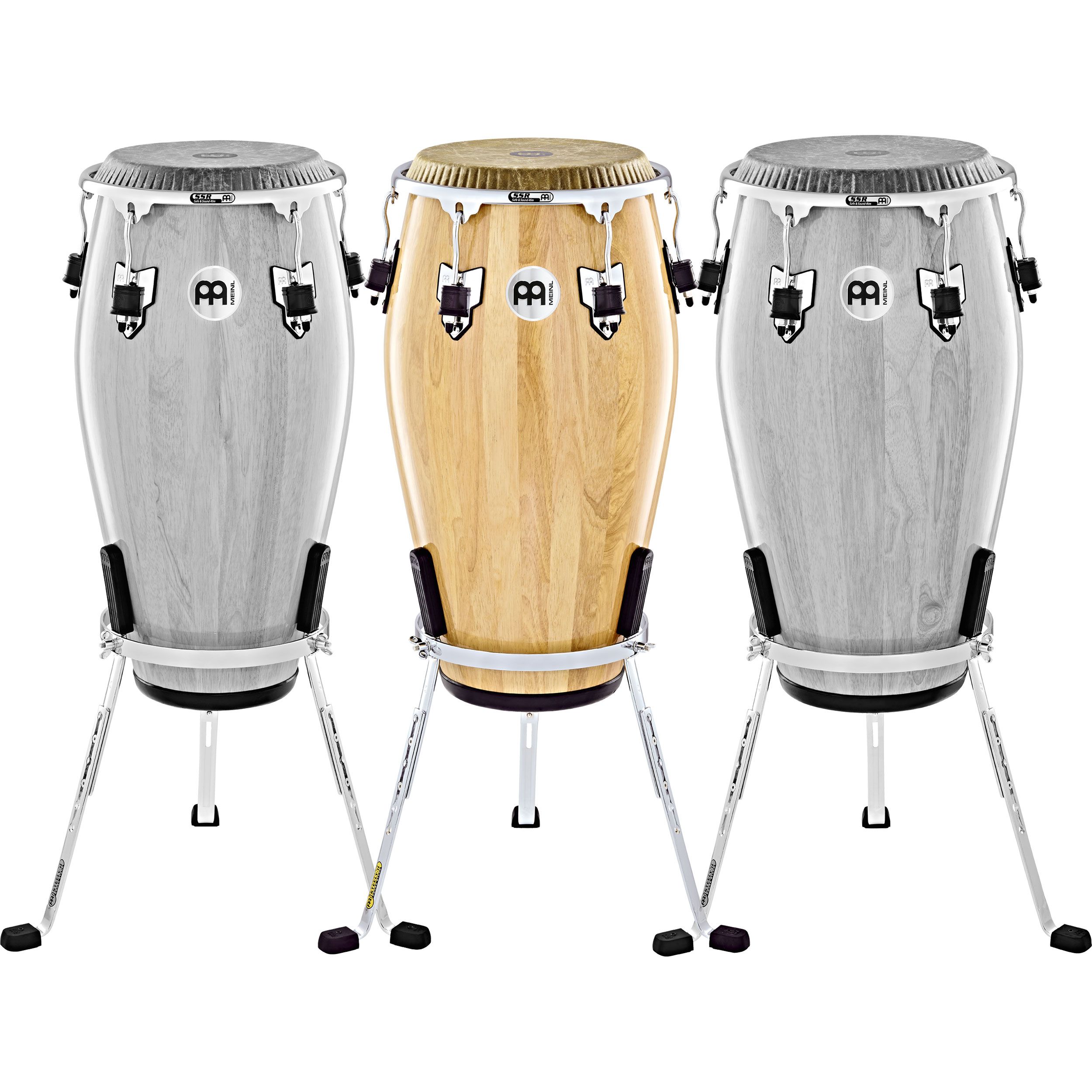 """Meinl 11.75"""" Marathon Exclusive Conga in Natural with Fiberskyn Head and Chrome Hardware"""