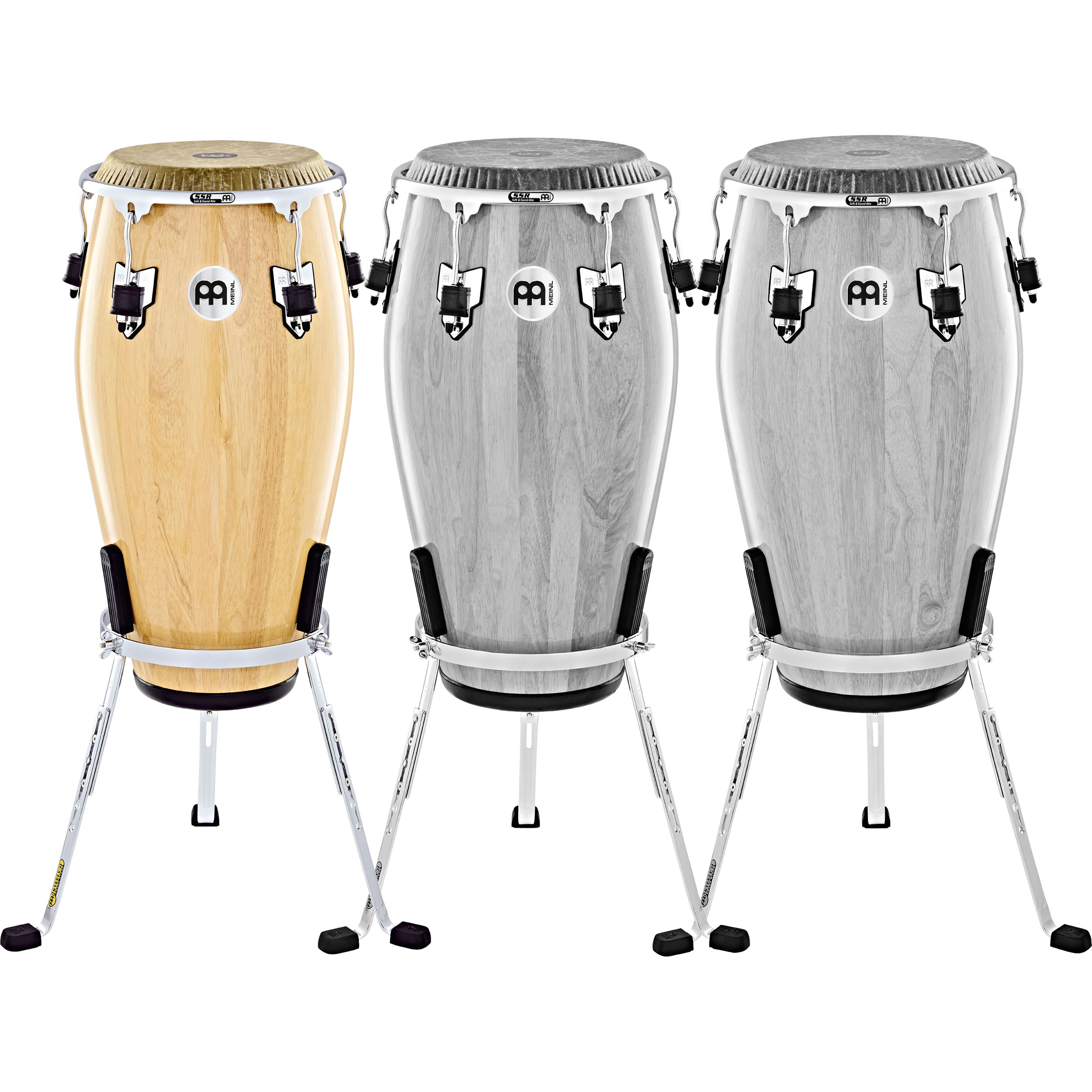 """Meinl 11"""" Marathon Exclusive Quinto Conga in Natural with Fiberskyn Head and Chrome Hardware"""