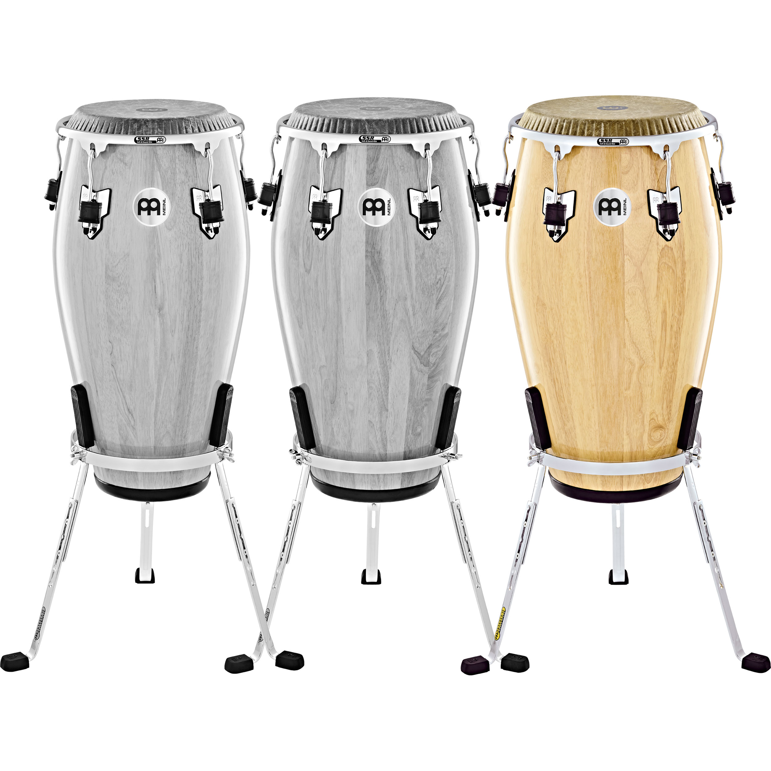 """Meinl 12.5"""" Marathon Exclusive Tumba Conga in Natural with Fiberskyn Head and Chrome Hardware"""