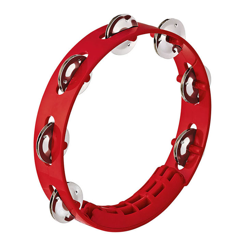 "Meinl Nino 8"" Compact ABS Tambourine in Red"