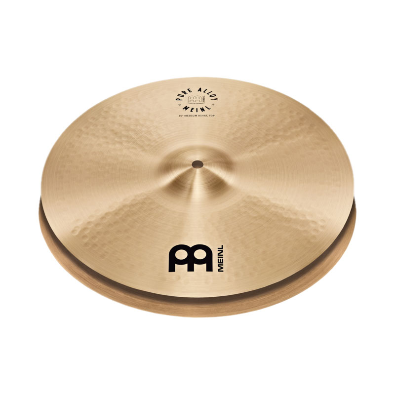 "Meinl 15"" Pure Alloy Medium Hi Hat Cymbals"
