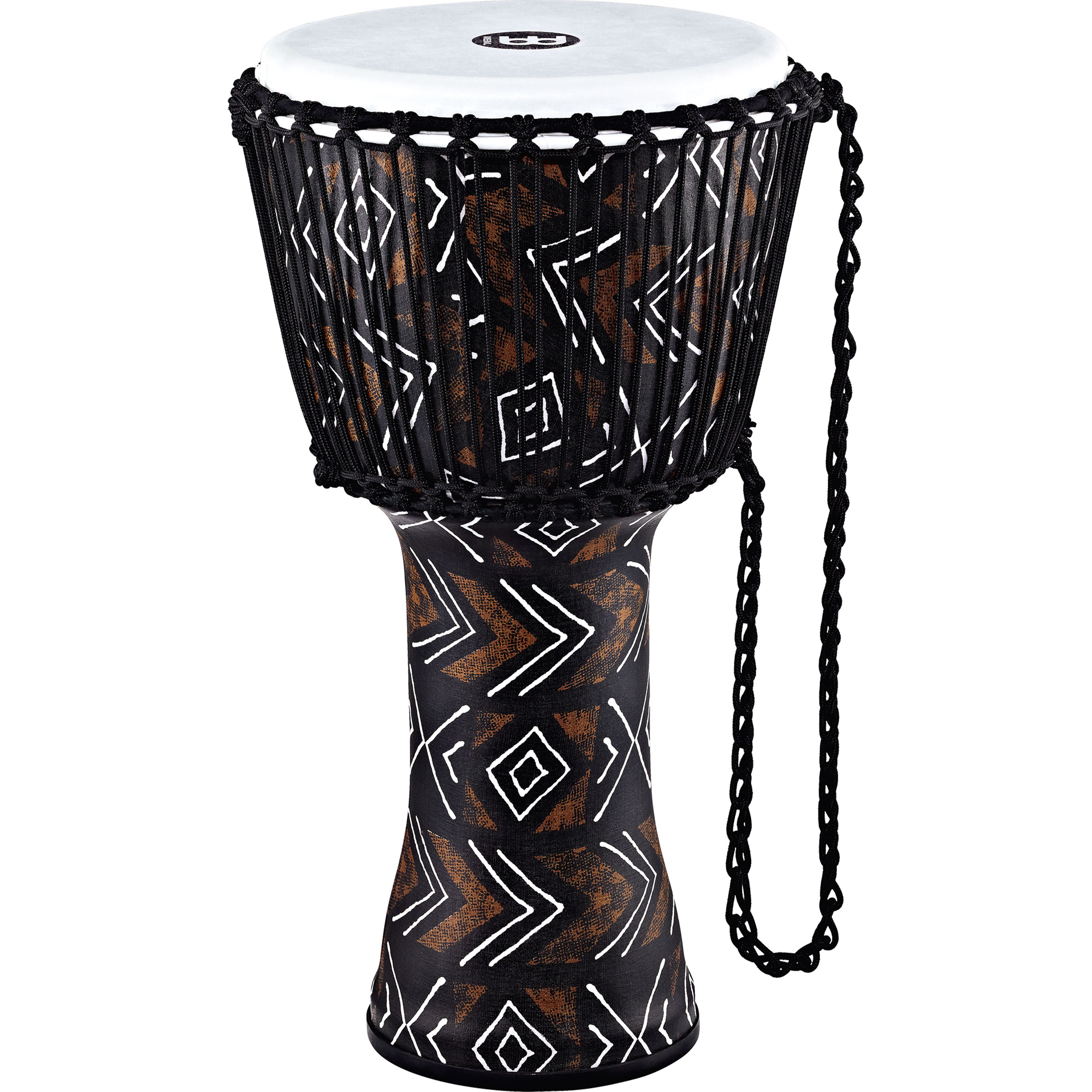 "Meinl 12"" Rope Tuned Travel Series Kanga Sarong Djembe with Synthetic Head"