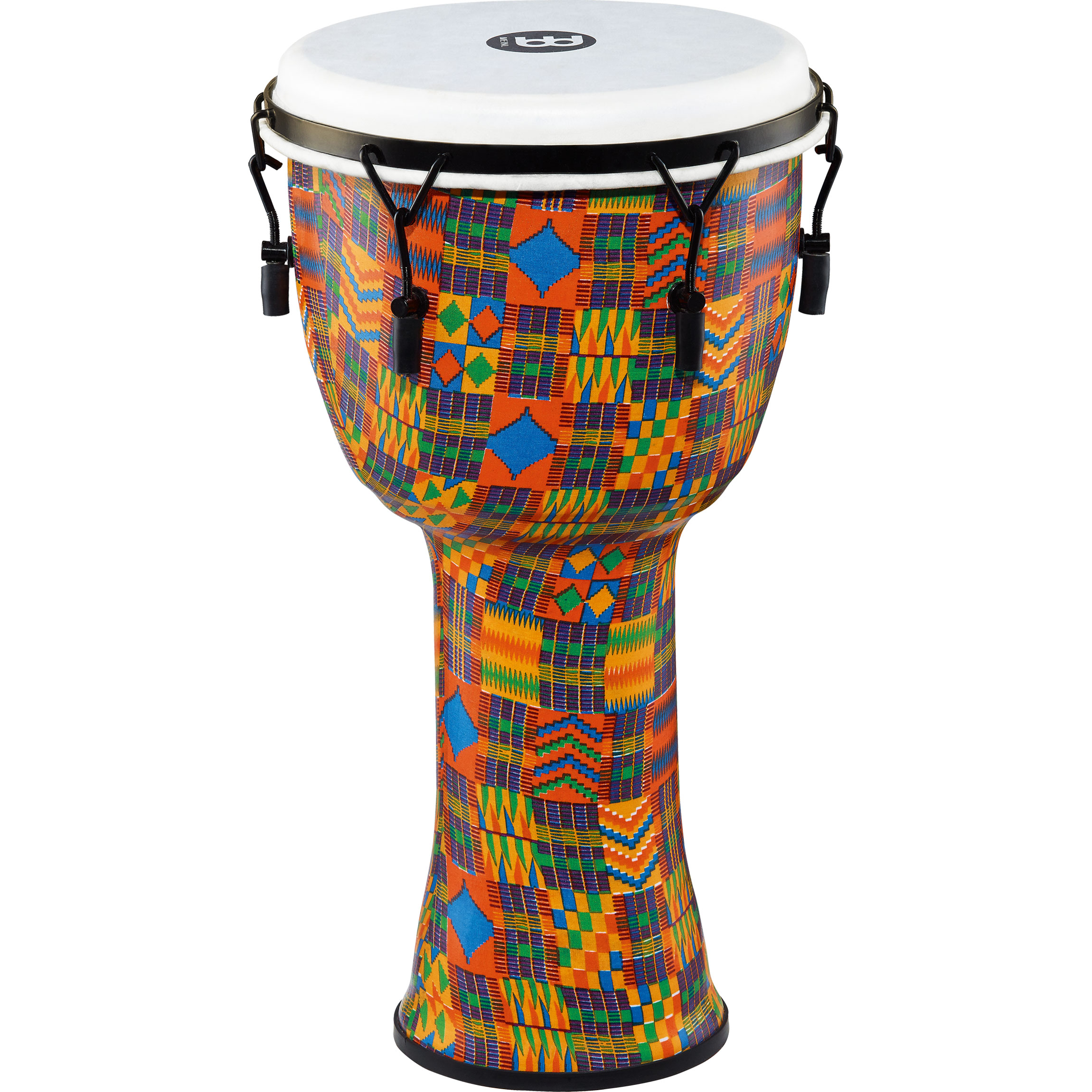 """Meinl 12"""" Mechanically-Tuned Travel Djembe in Kenyan Quilt with Synthetic Head"""