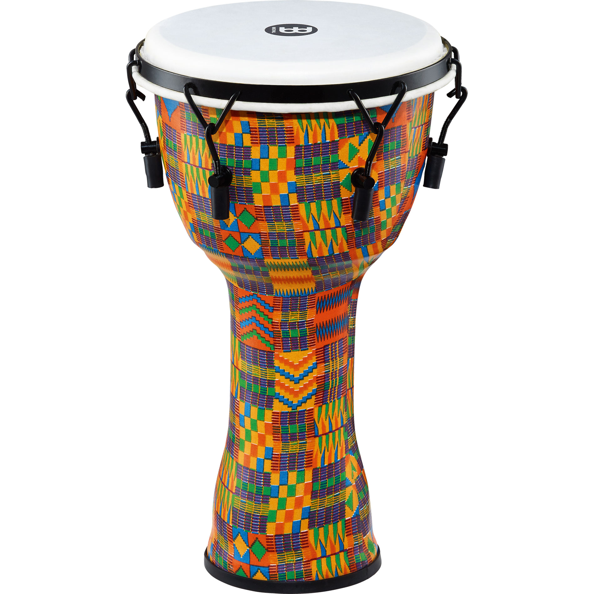 """Meinl 10"""" Mechanically-Tuned Travel Djembe in Kenyan Quilt with Synthetic Head"""
