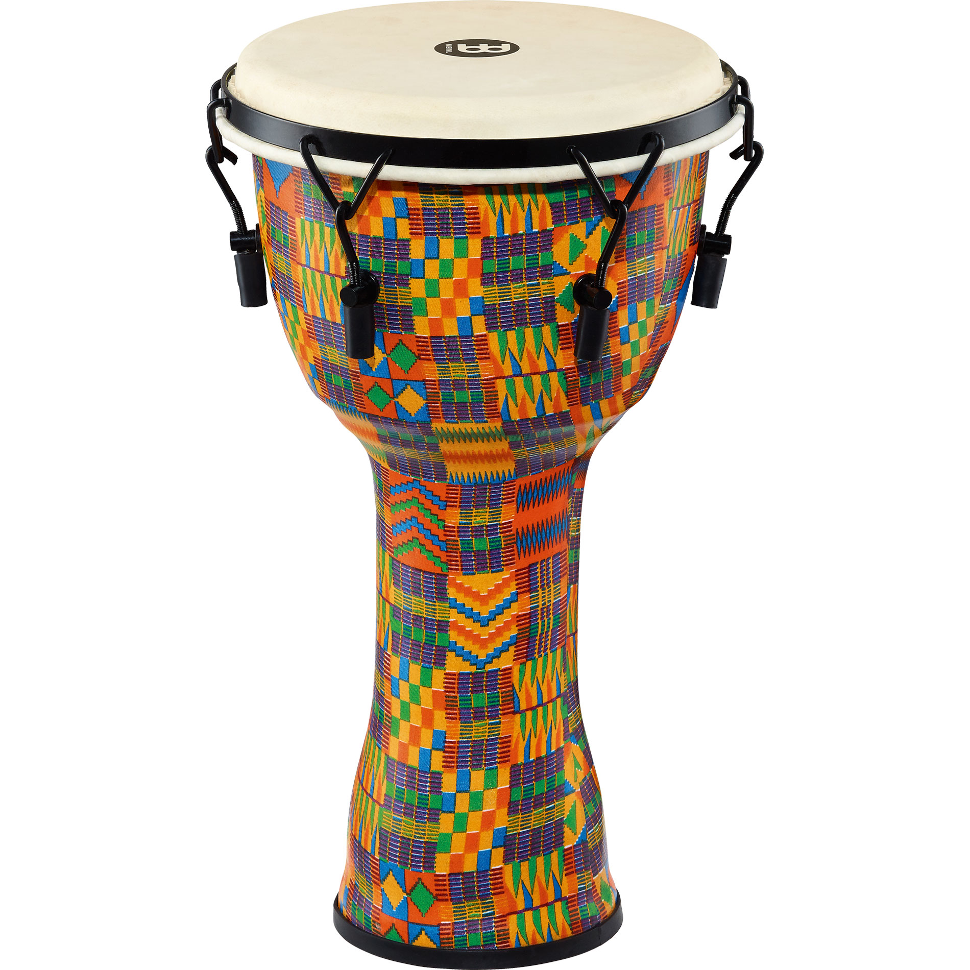 """Meinl 10"""" Mechanically-Tuned Travel Djembe in Kenyan Quilt with Natural Head"""