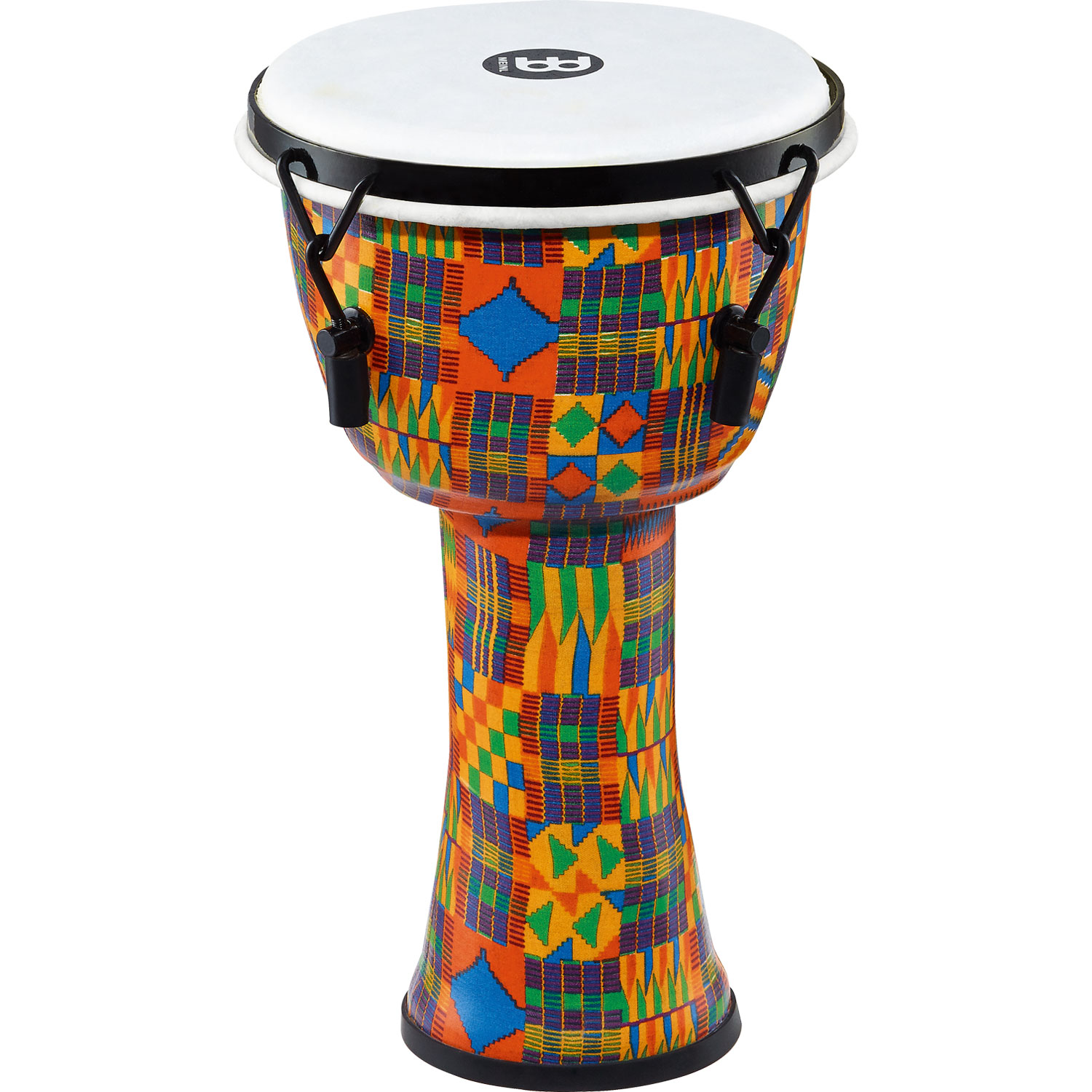 """Meinl 8"""" Mechanically-Tuned Travel Djembe in Kenyan Quilt with Synthetic Head"""