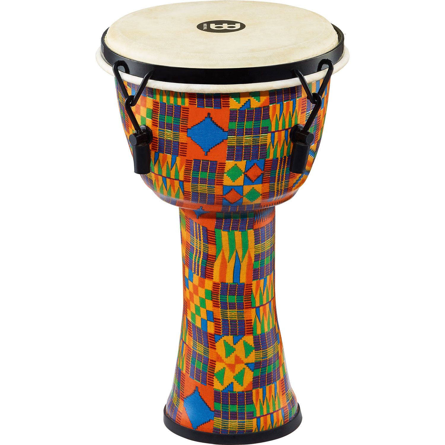 """Meinl 8"""" Mechanically-Tuned Travel Djembe in Kenyan Quilt with Natural Head"""