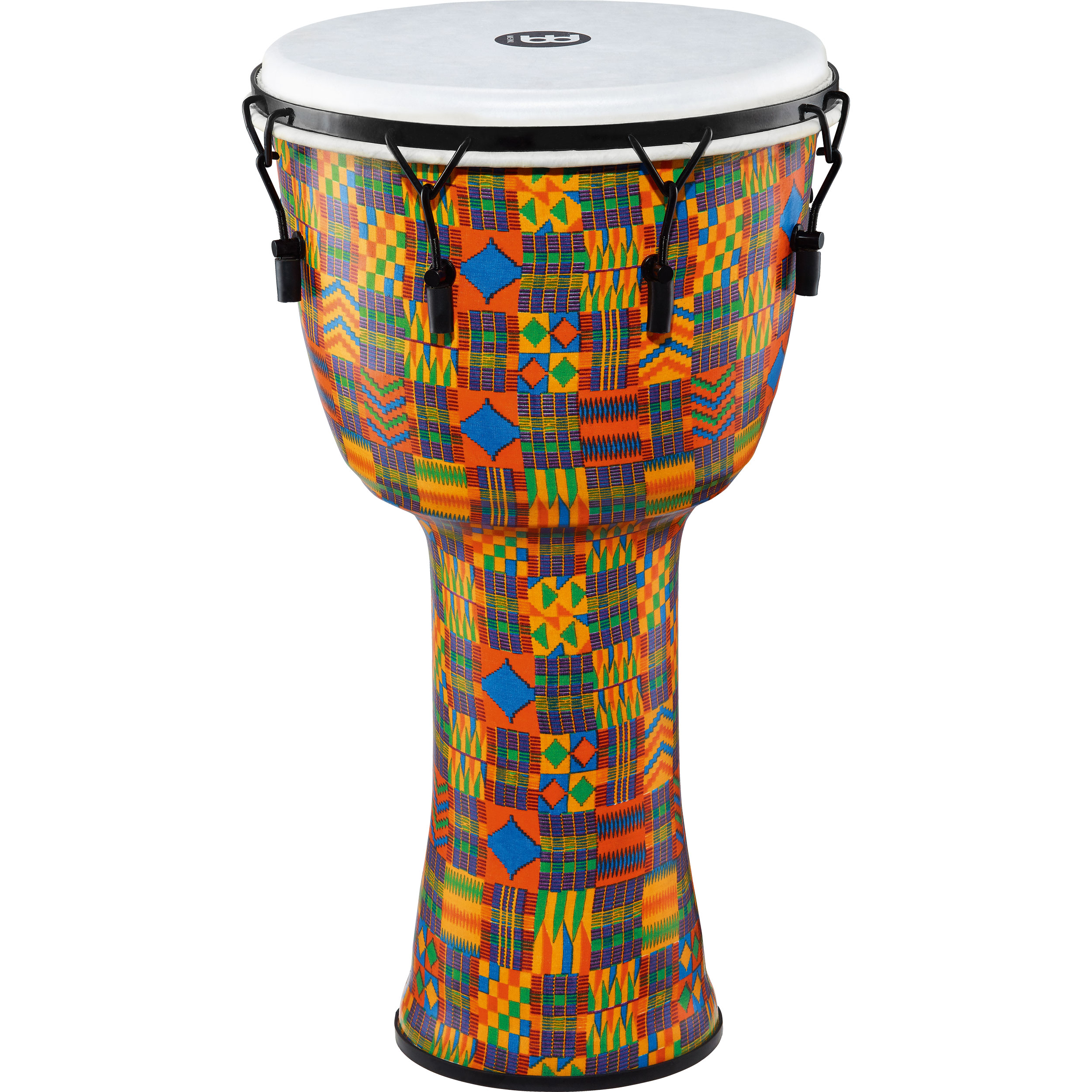 """Meinl 14"""" Mechanically-Tuned Travel Djembe in Kenyan Quilt with Synthetic Head"""