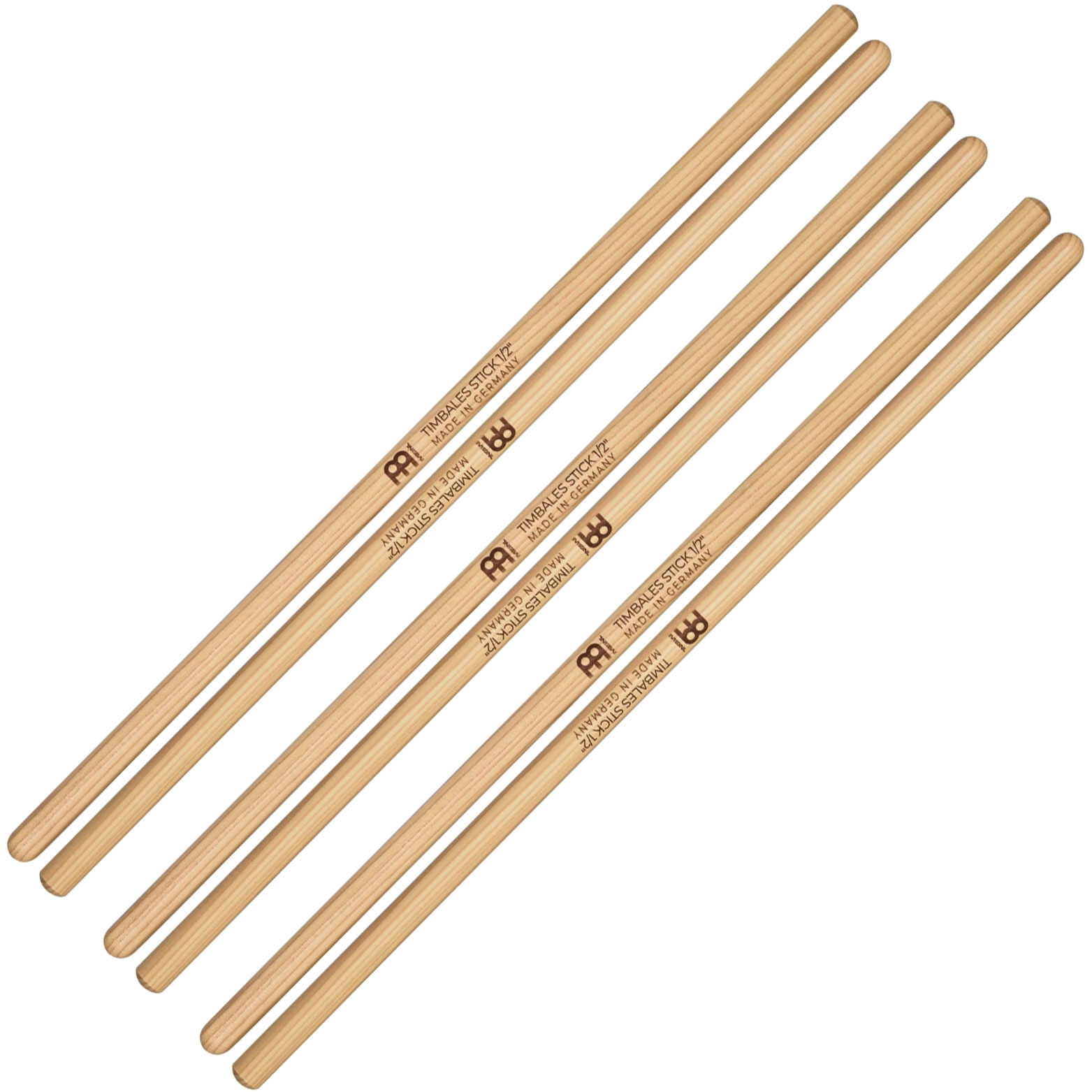 "Meinl 1/2"" Hickory Timbales Sticks (3 Pairs)"