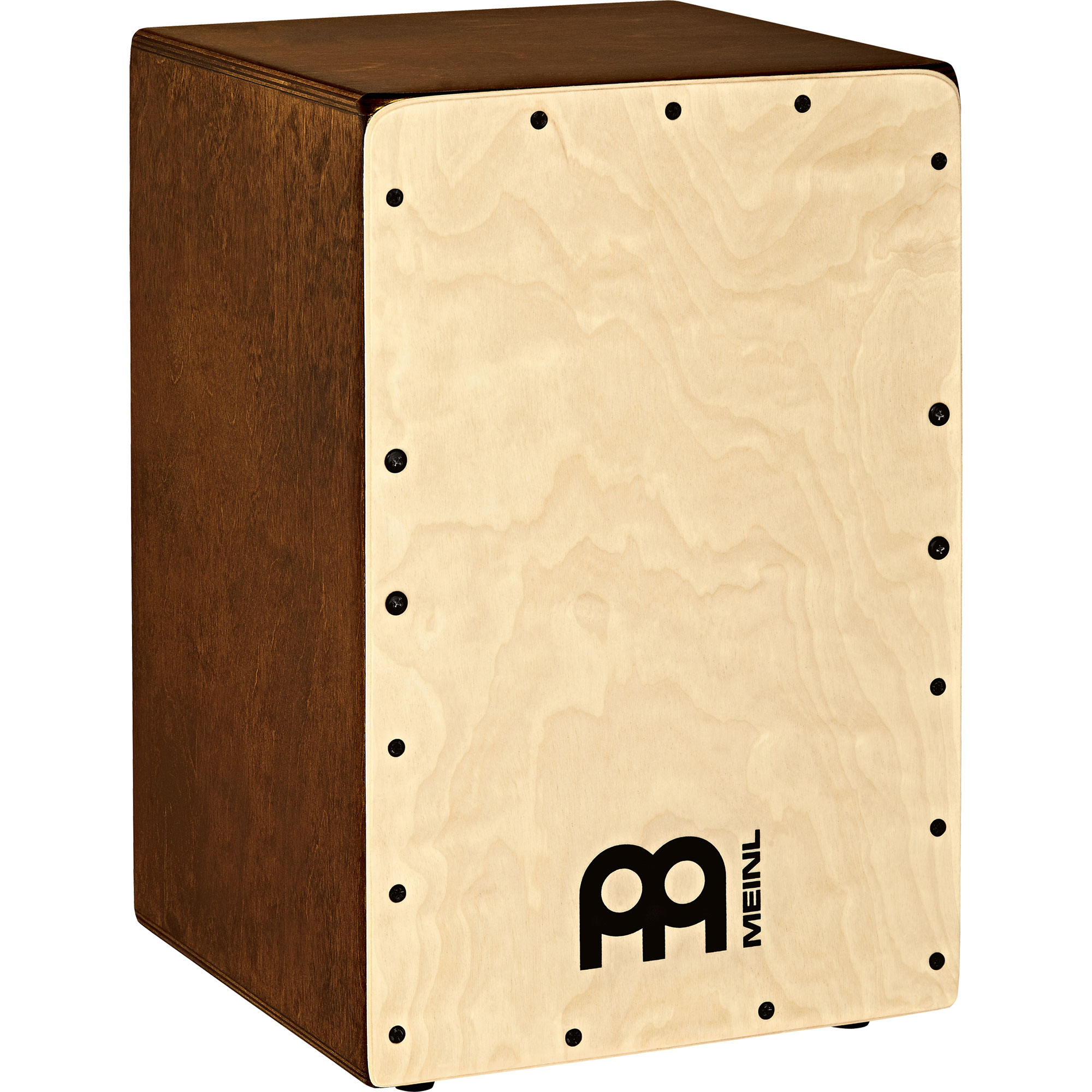 """Meinl Snarecraft Cajon with Baltic Birch Frontplate and Almond Sides, 18"""" Height"""