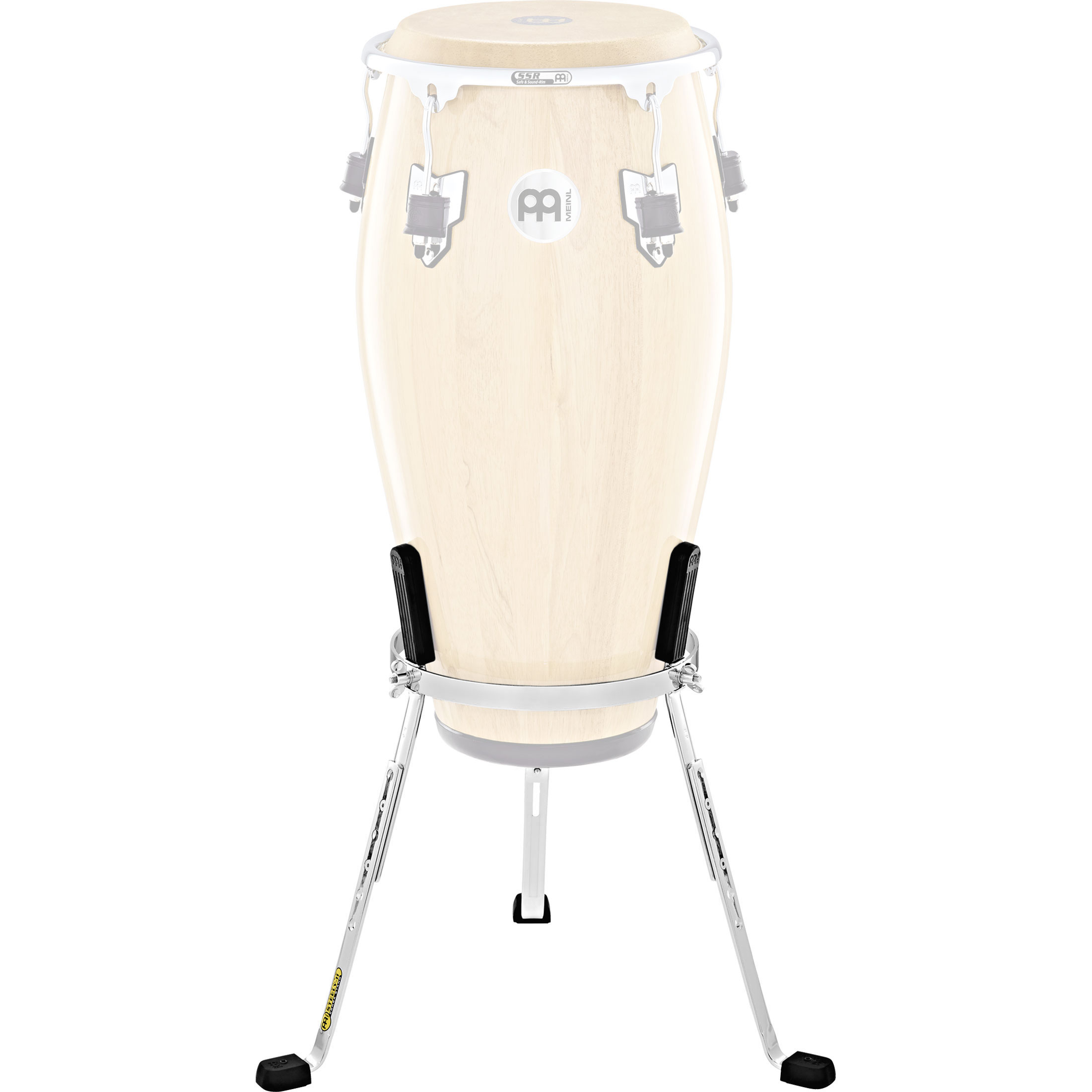 """Meinl 11"""" Marathon Exclusive Steely II Quinto Conga Stand in Chrome"""