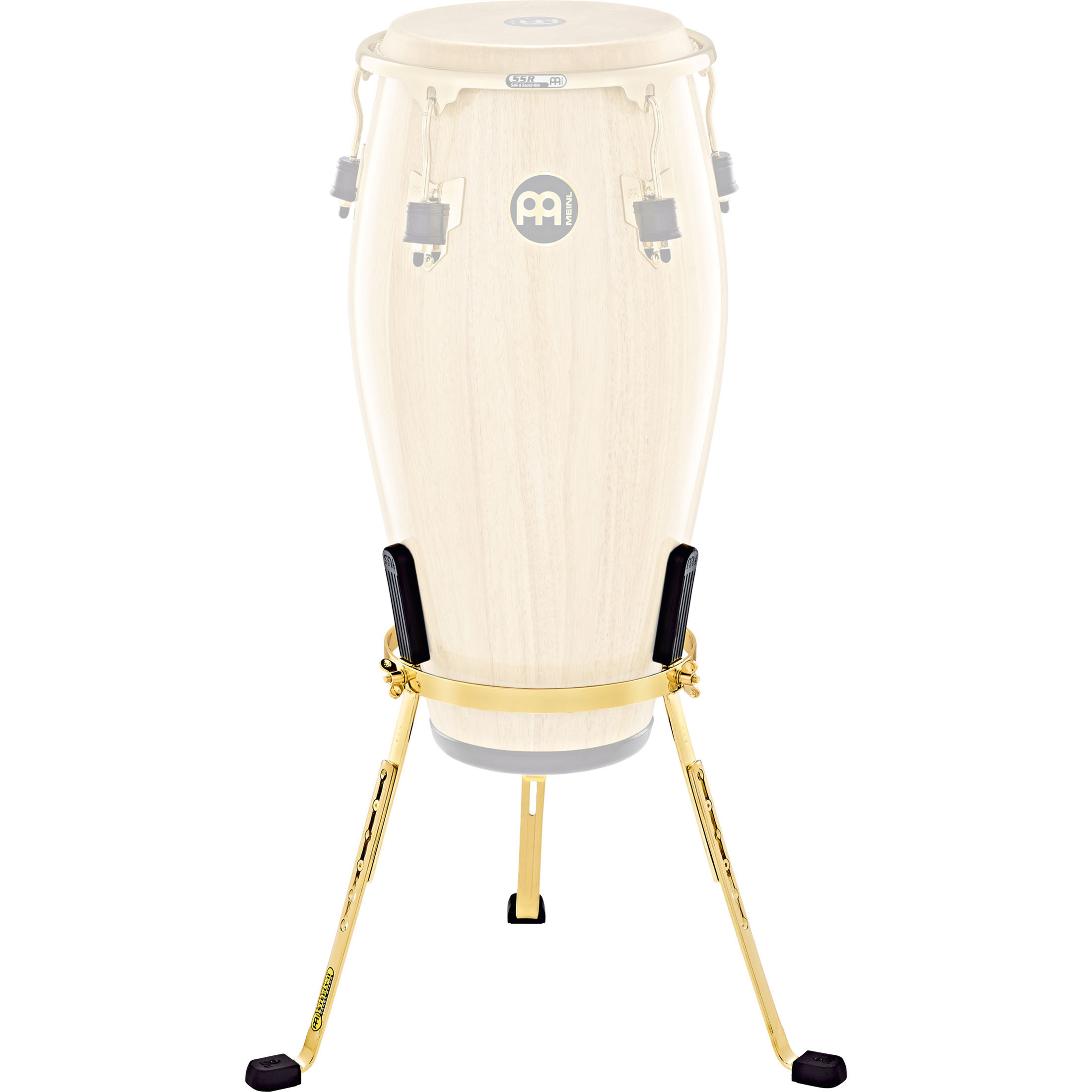 "Meinl 11"" Marathon Exclusive Steely II Quinto Conga Stand in Gold"