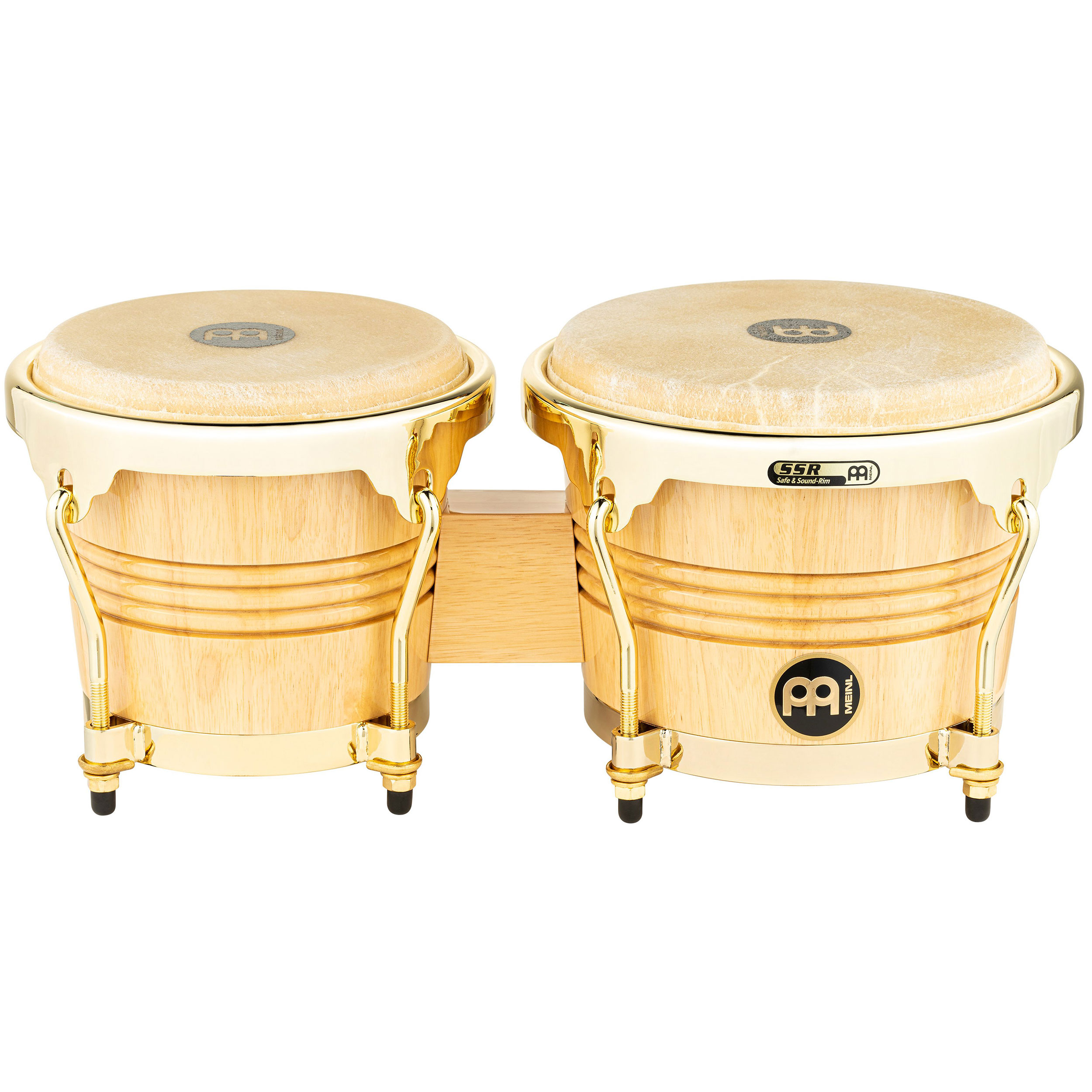 """Meinl 6.75"""" & 8"""" Wood Bongos with Gold Hardware"""