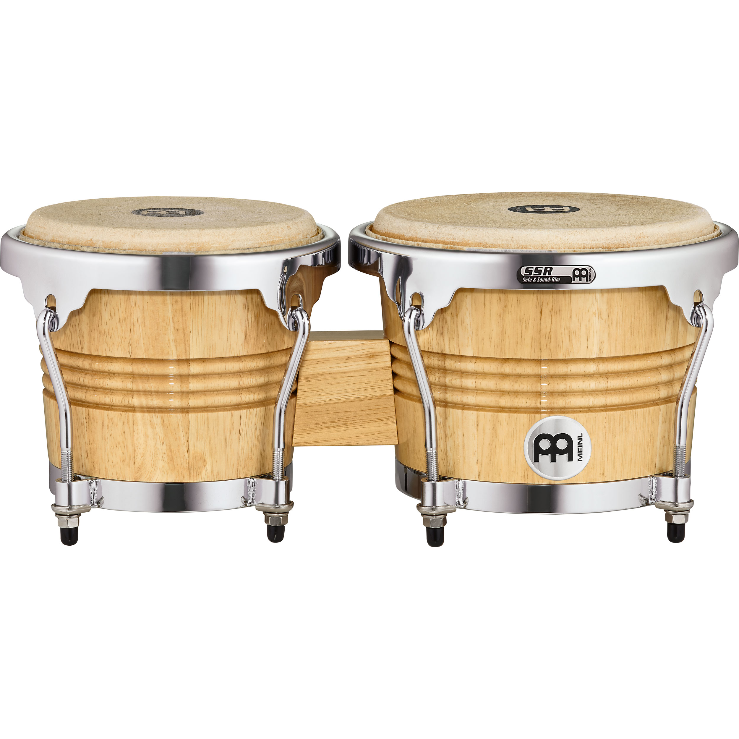 "Meinl 6.75"" & 8"" Wood Bongos with Chrome Hardware"