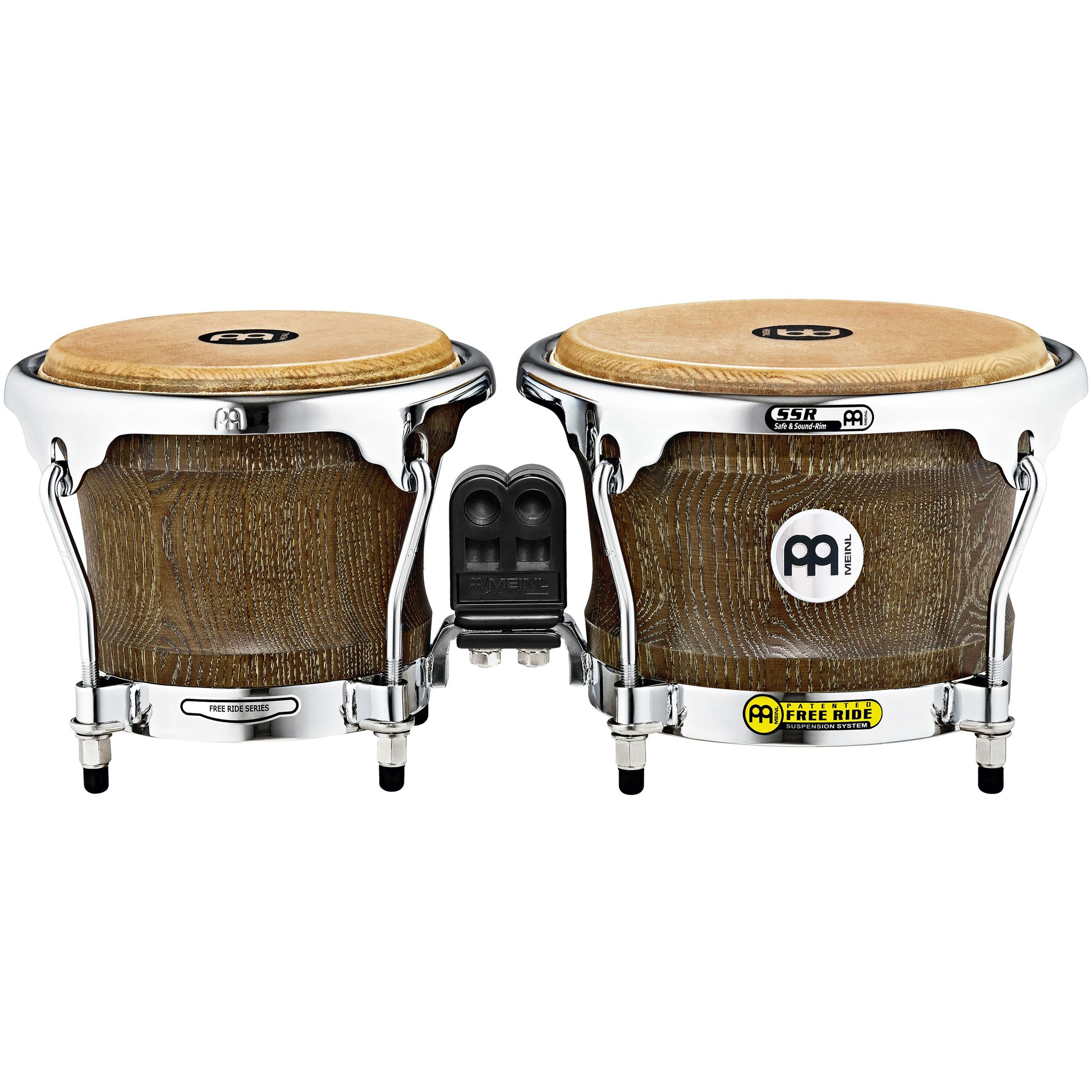 "Meinl 7"" & 8.5"" Woodcraft Series Bongos in Vintage Brown"