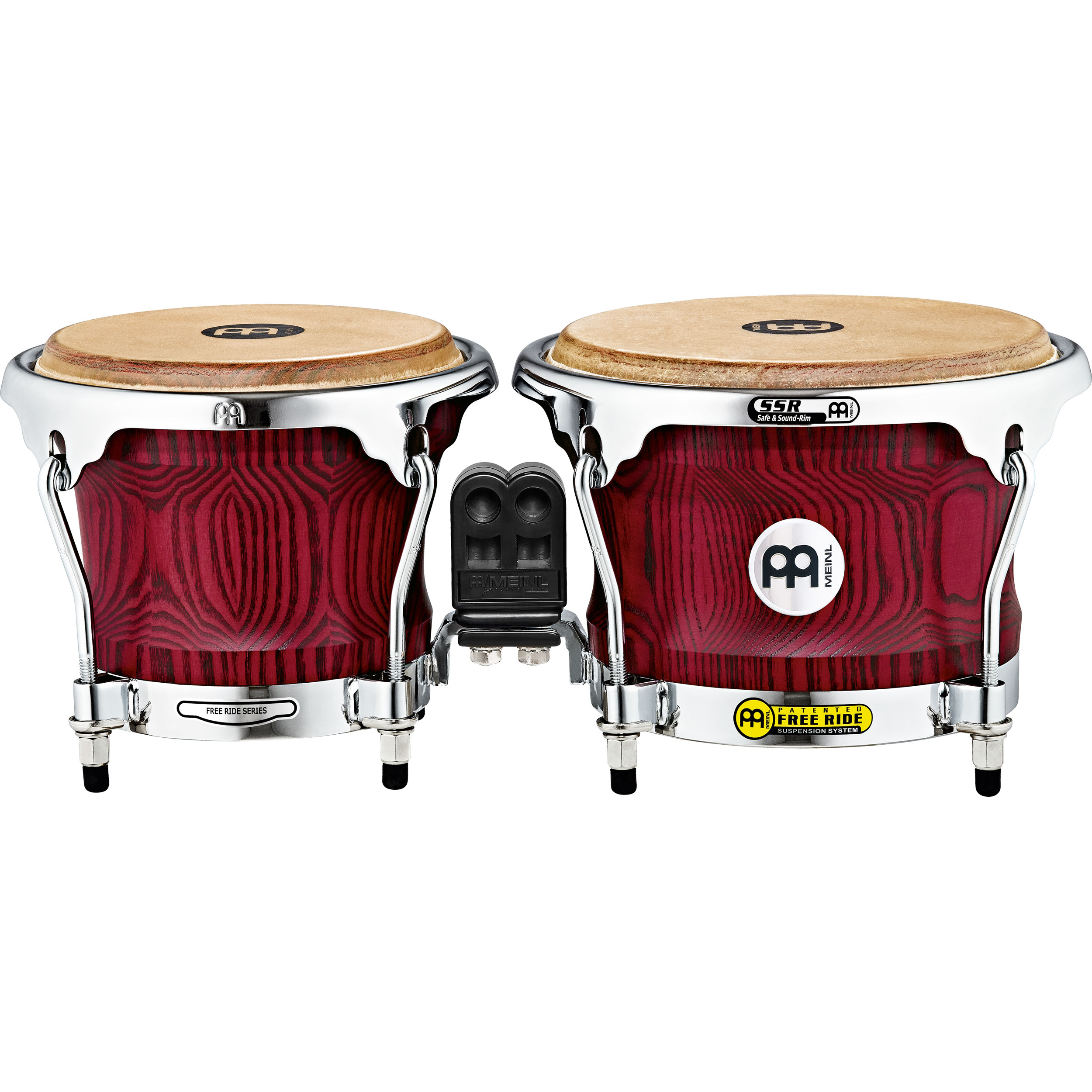 "Meinl 7"" & 8.5"" Woodcraft Series Bongos in Vintage Red"