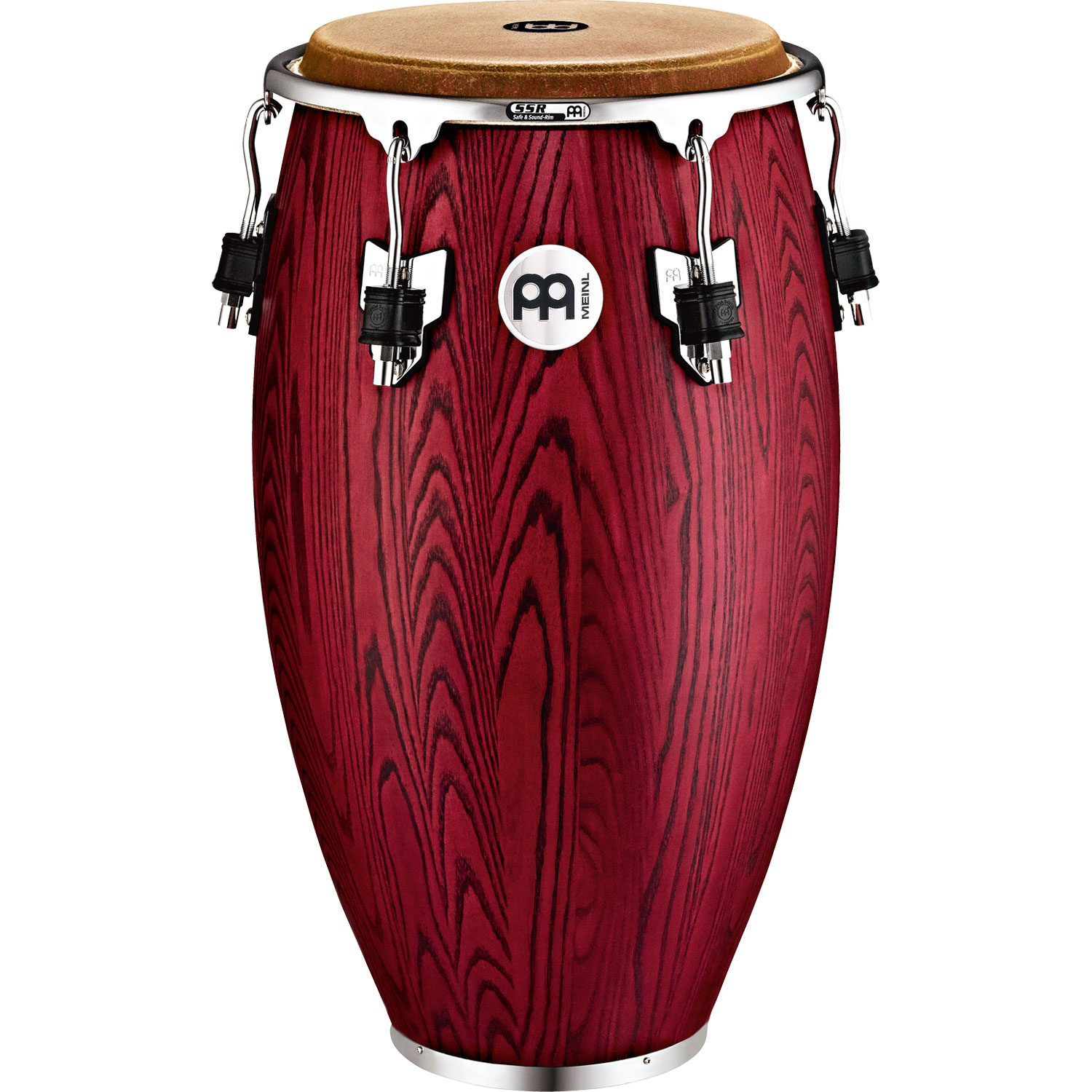 """Meinl 11"""" Woodcraft Series Quinto Conga in Vintage Red"""
