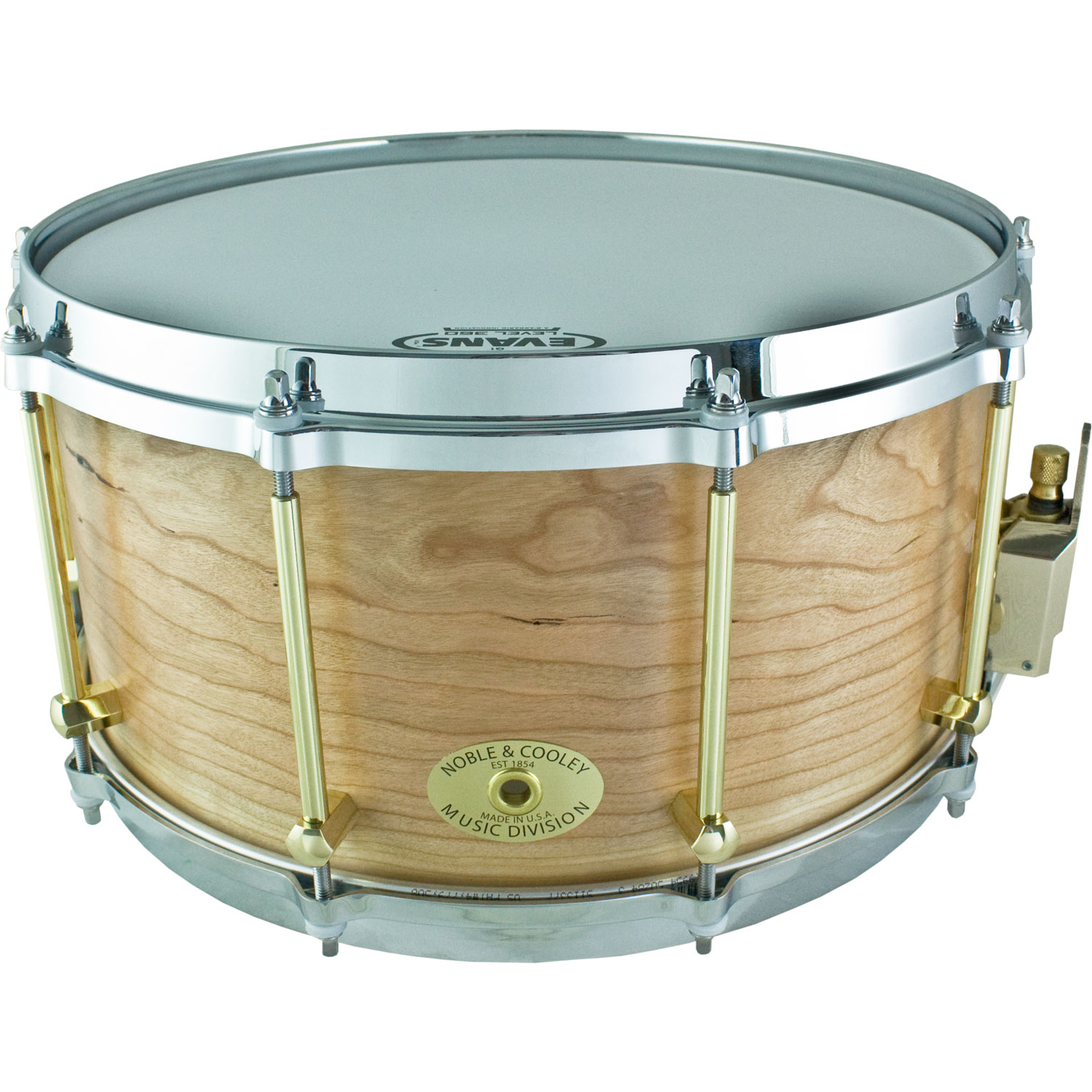 "Noble & Cooley 7"" x 14"" Classic Solid Shell Cherry Snare Drum in Natural Oil"