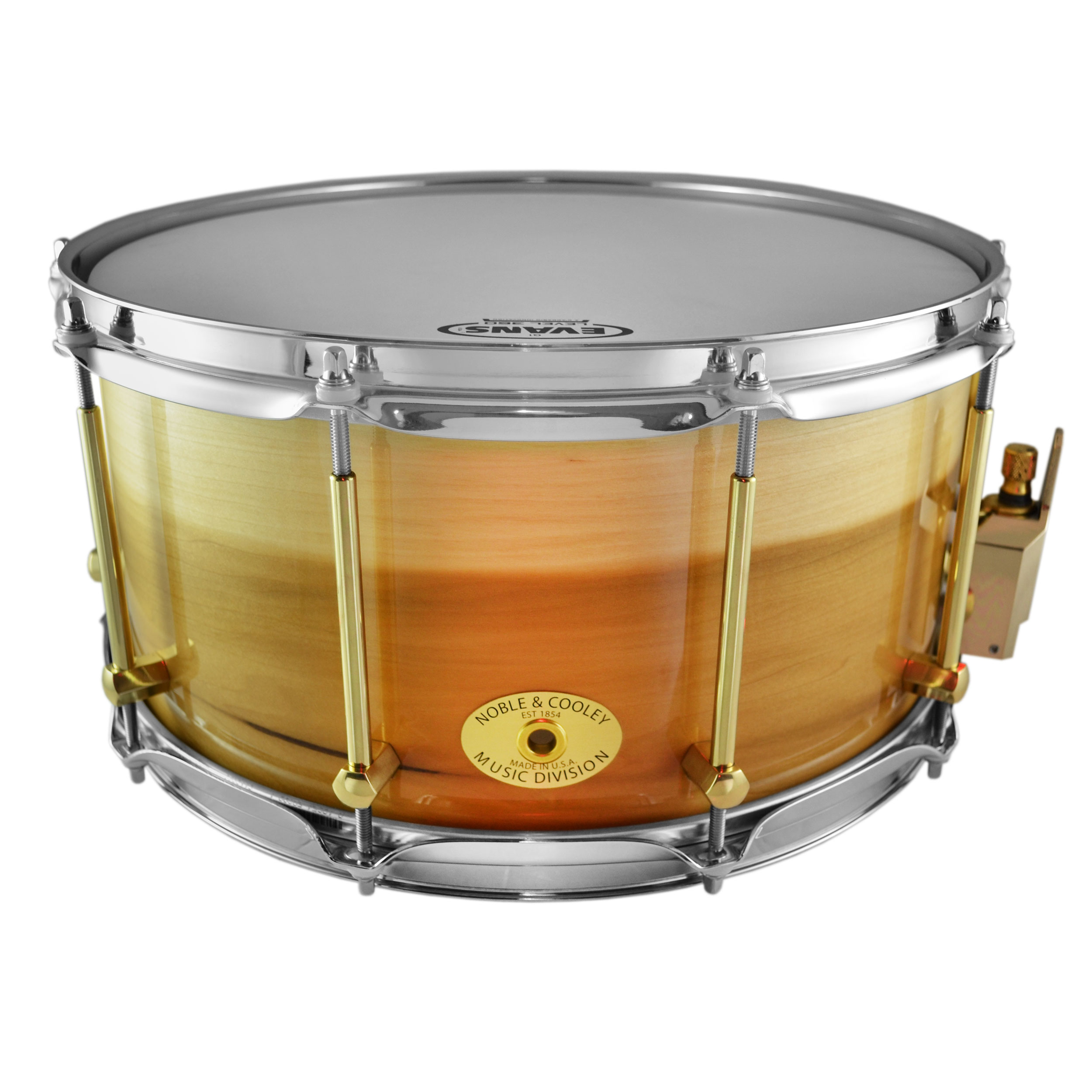 "Noble & Cooley 7"" x 14"" Classic Solid Shell Tulip Snare Drum in Clear Gloss"