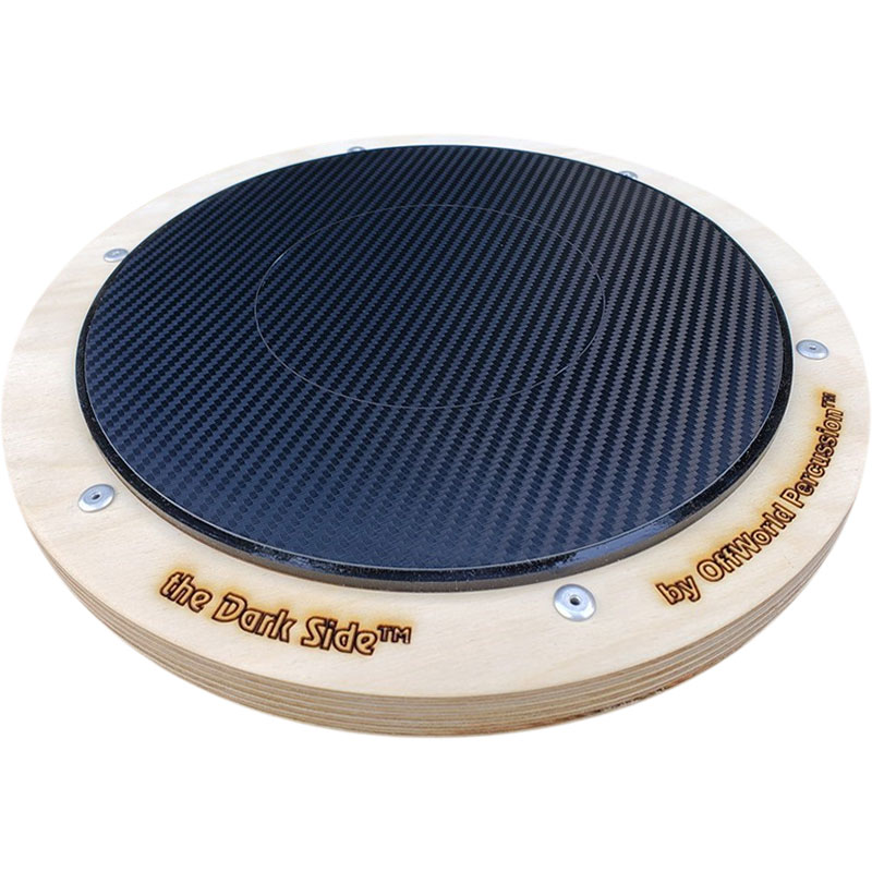 Offworld Percussion DarkSide Practice Pad with Black Laminate