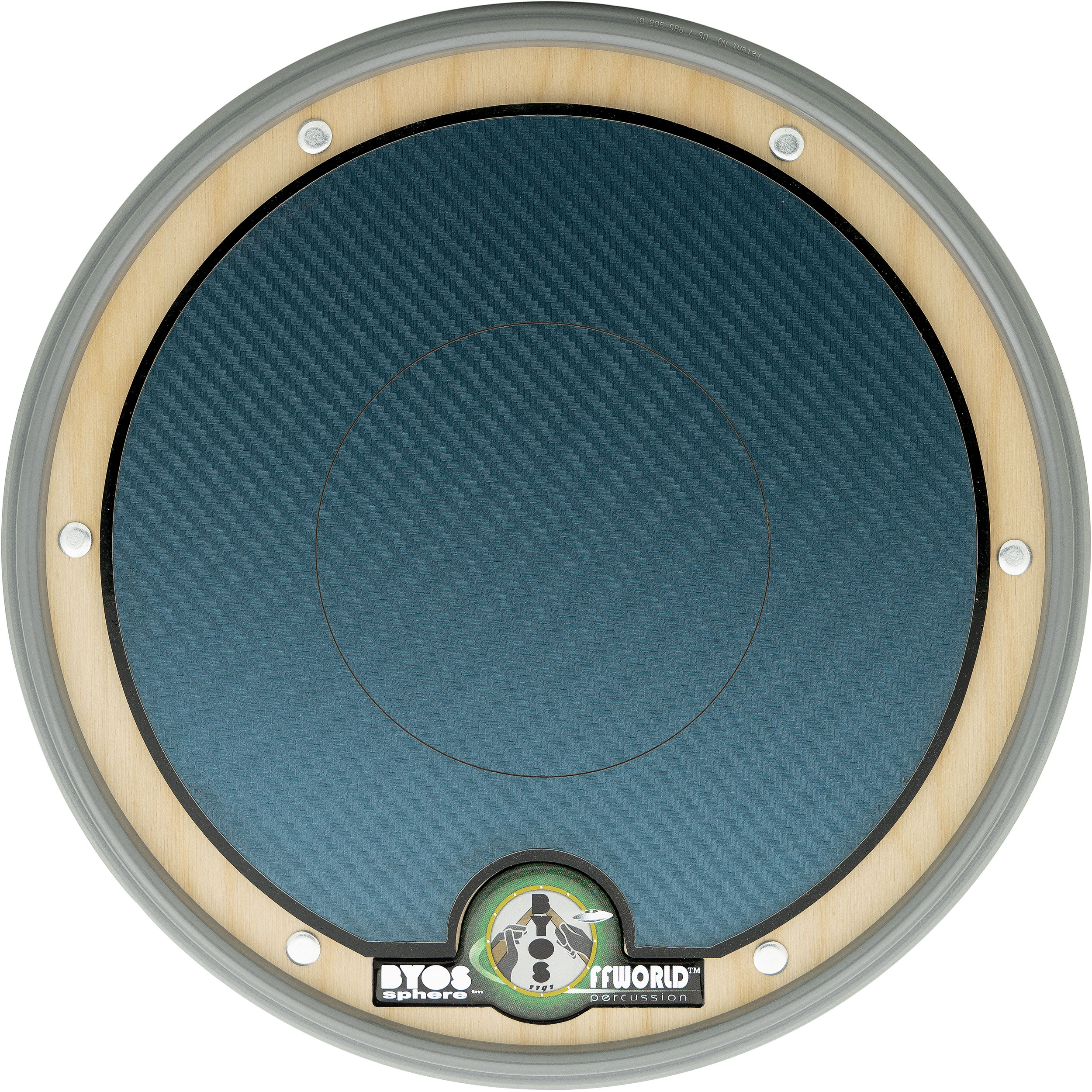 Offworld Percussion BYOSphere Practice Pad with Blue Chameleon Laminate
