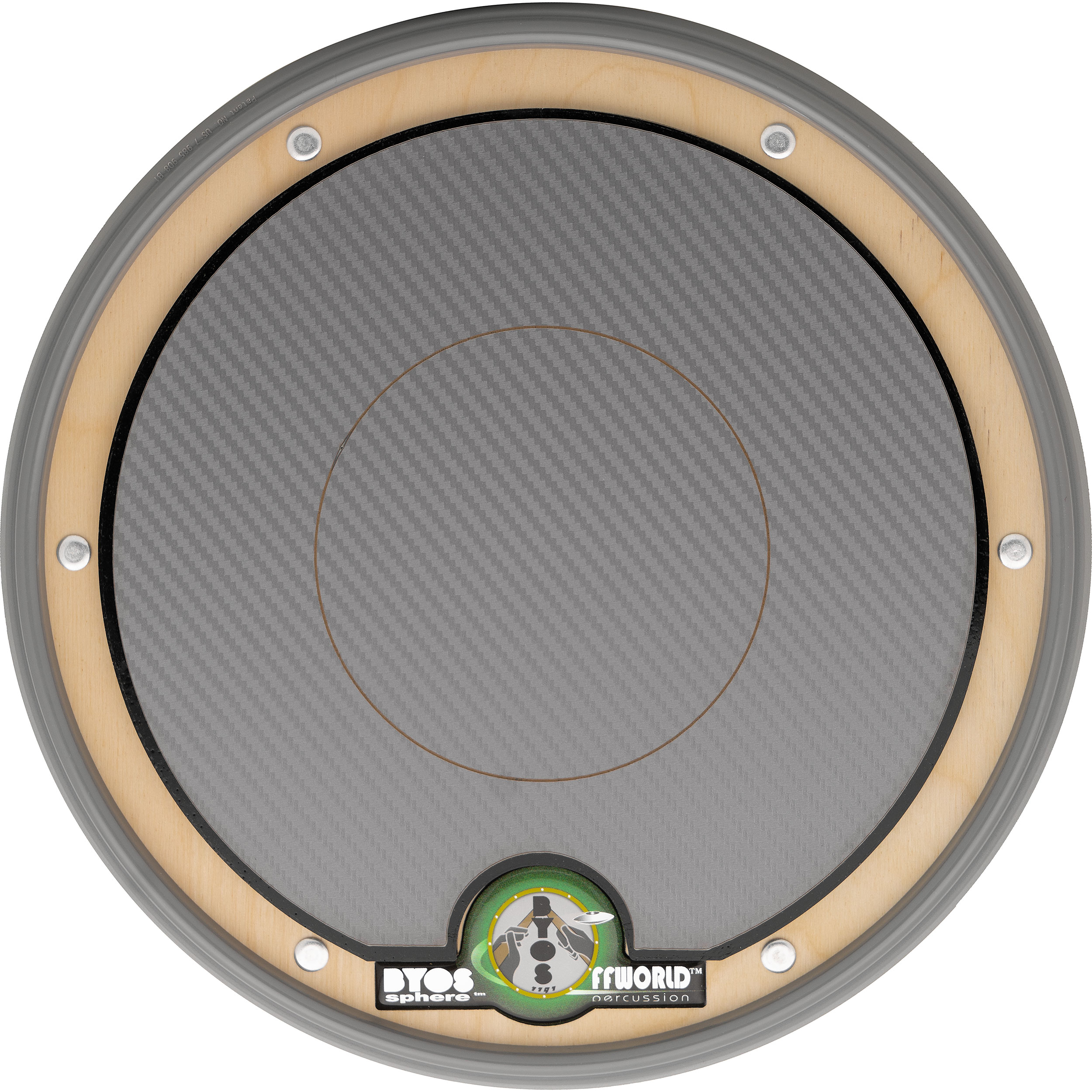 Offworld Percussion BYOSphere Practice Pad with Gunmetal Laminate