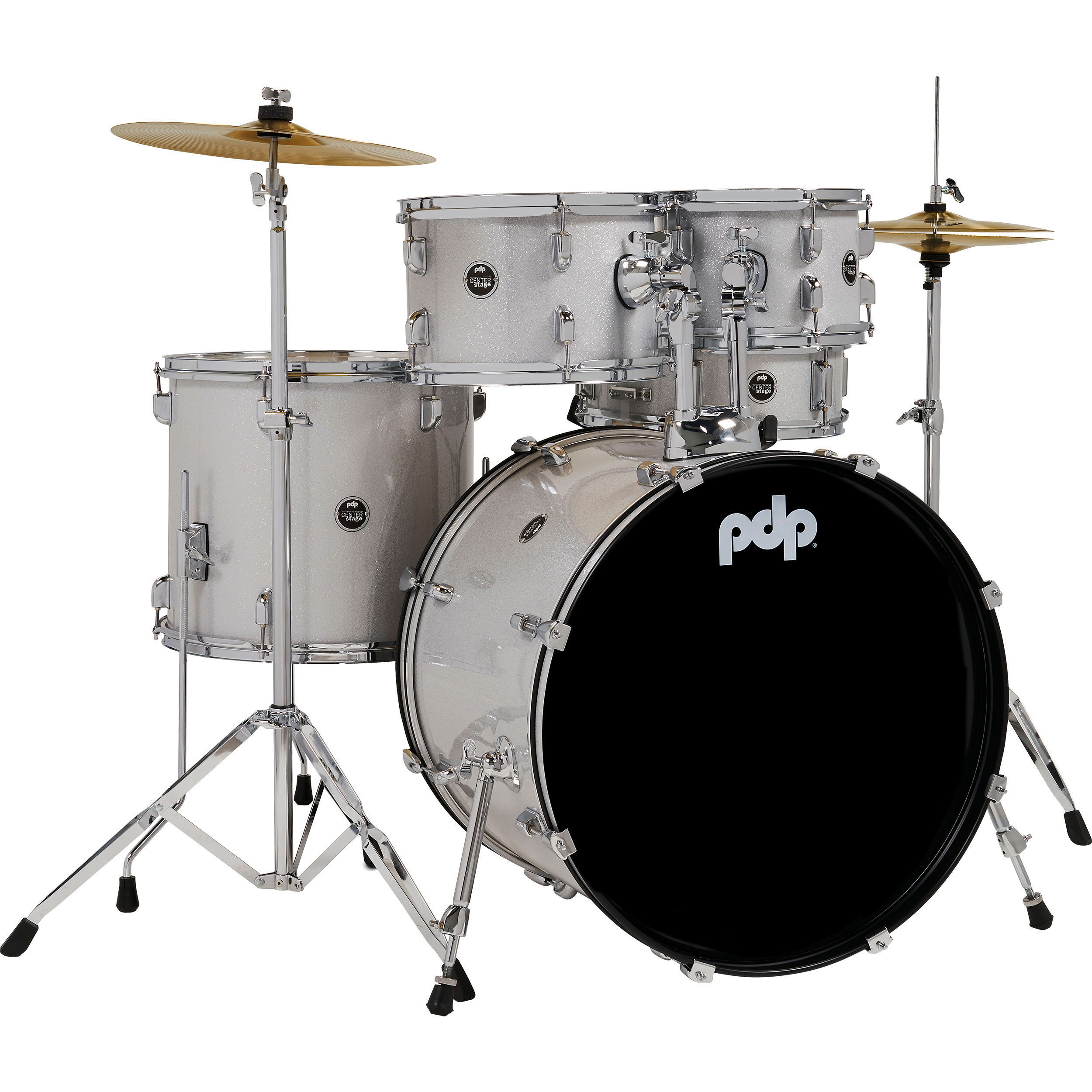 "PDP CENTERstage 5-Piece Drum Set with Hardware, Cymbals, and Throne (22"" Bass, 10/12/16"" Toms, 14"" Snare)"
