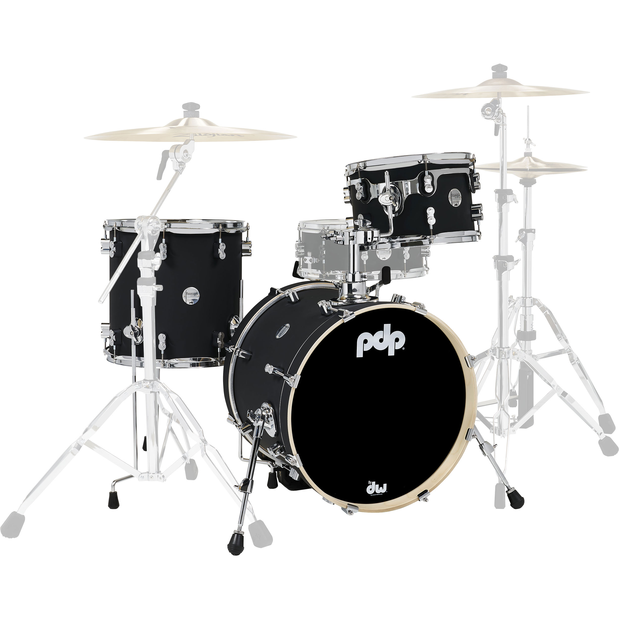 "PDP Concept Maple 3-Piece Drum Set Shell Pack (18"" 12/14"" Toms)"