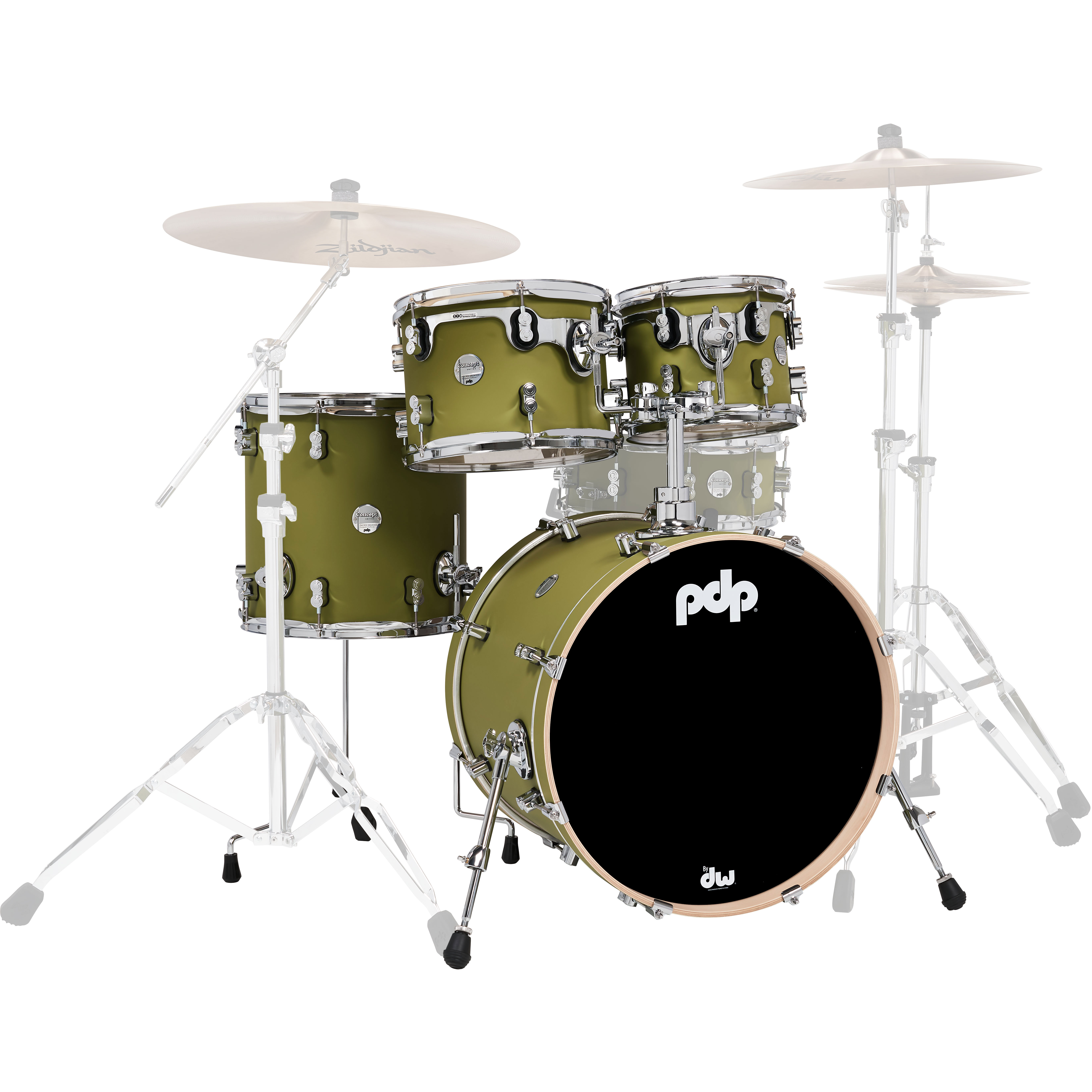 "PDP Concept Maple 4-Piece Drum Set Shell Pack (20"" Bass, 10/12/14"" Toms)"