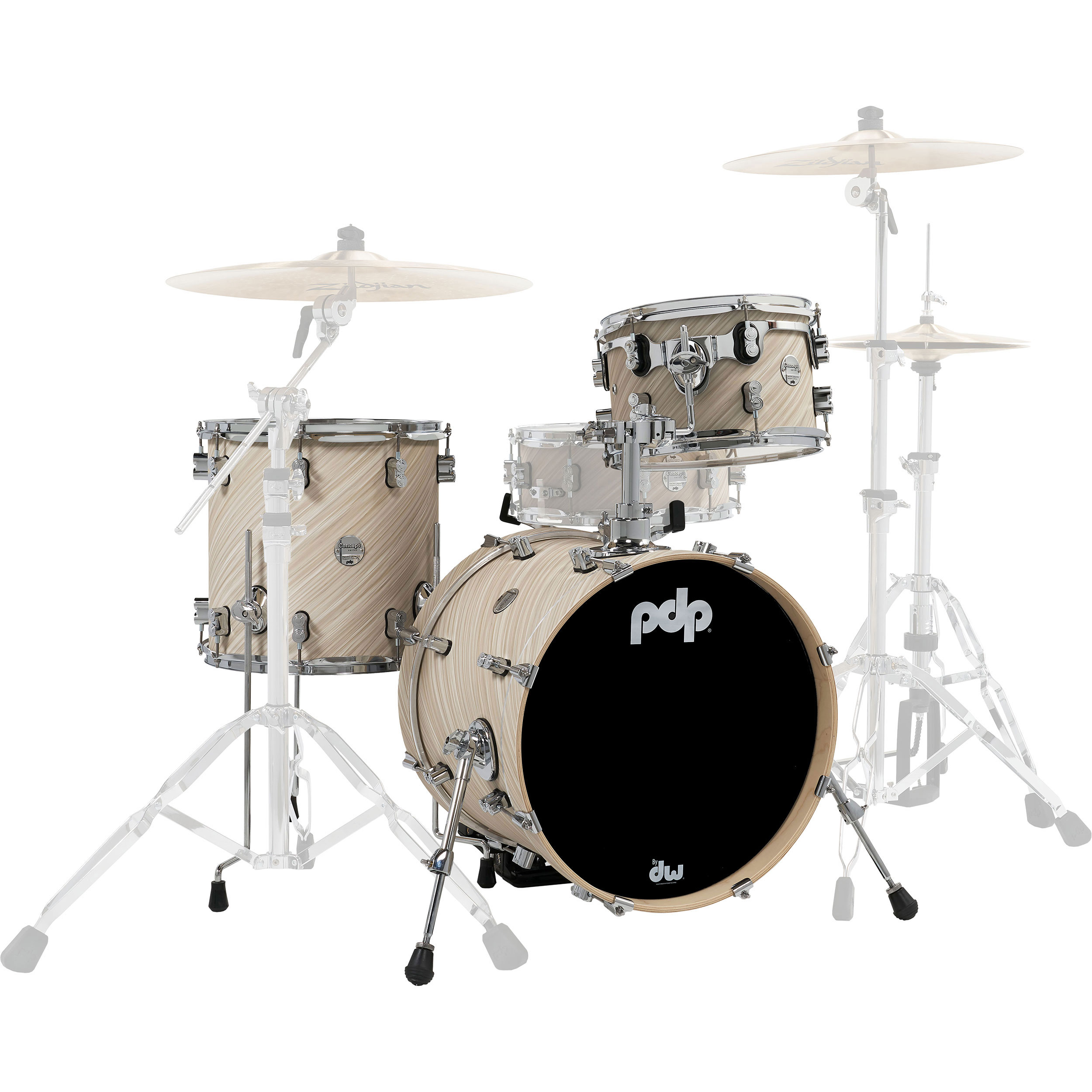 "PDP Concept Maple 3-Piece Drum Set Shell Pack (24"" Bass, 13/16 Toms)"