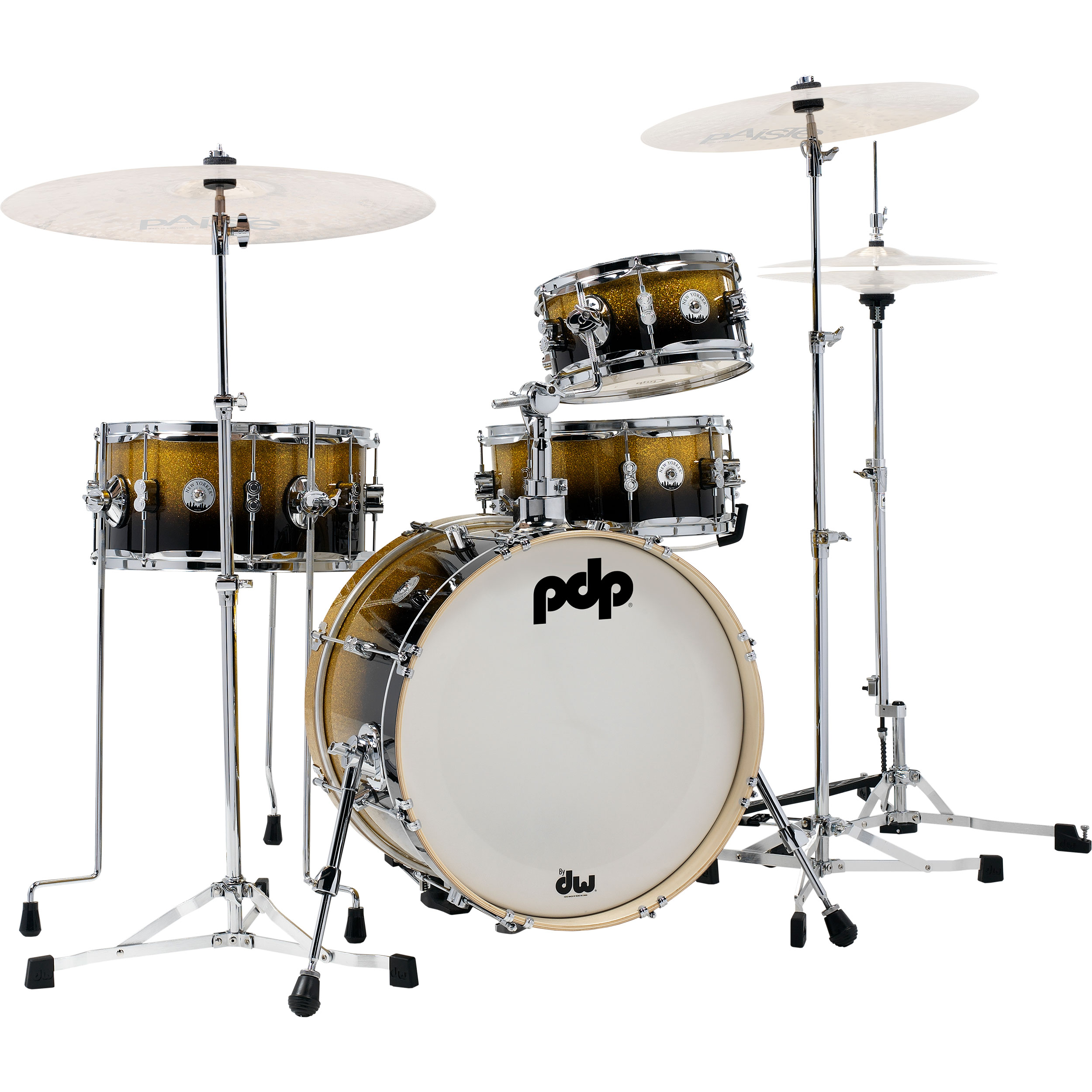 """PDP Daru Jones New Yorker Drum Set with DW 6000 Hardware Pack  & Bags (18"""" Bass, 10/14"""" Toms, 13"""" Snare)"""