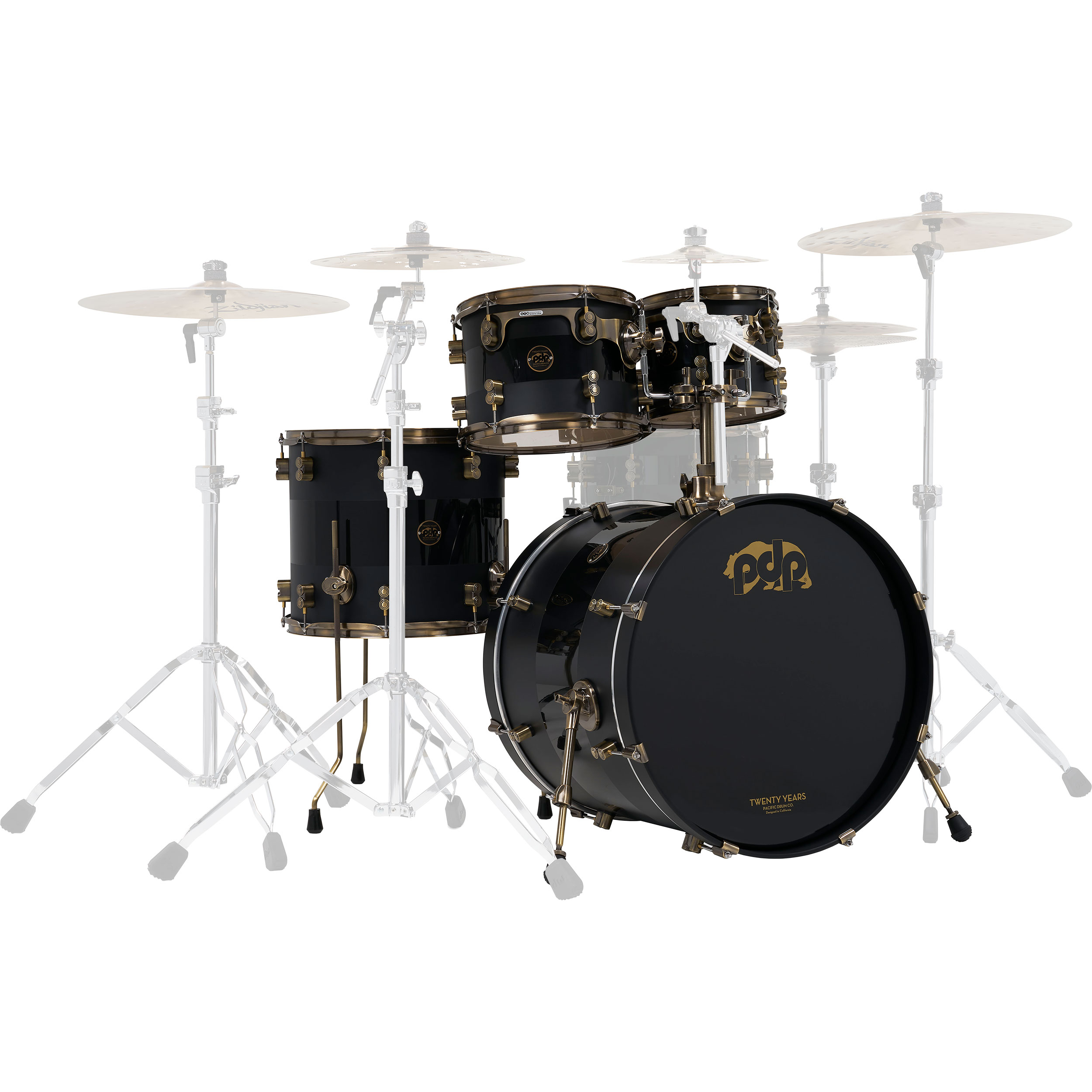 "PDP Limited Edition 20th Anniversary 4-Piece Drum Set Shell Pack (22"" Bass, 10/12/16"" Toms)"