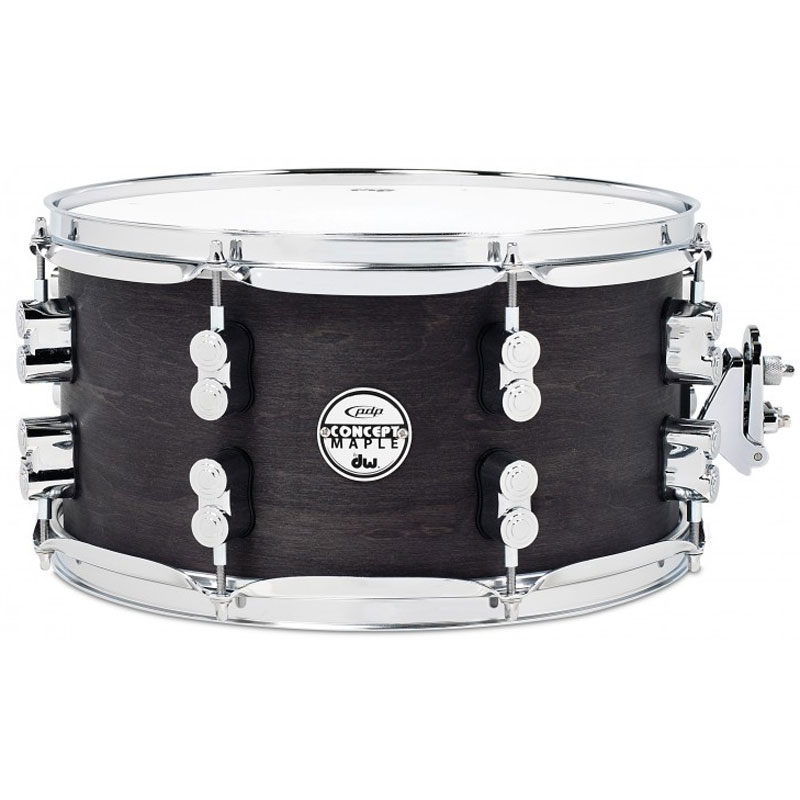 "PDP 6"" x 12"" Concept Black Wax Maple Snare Drum"