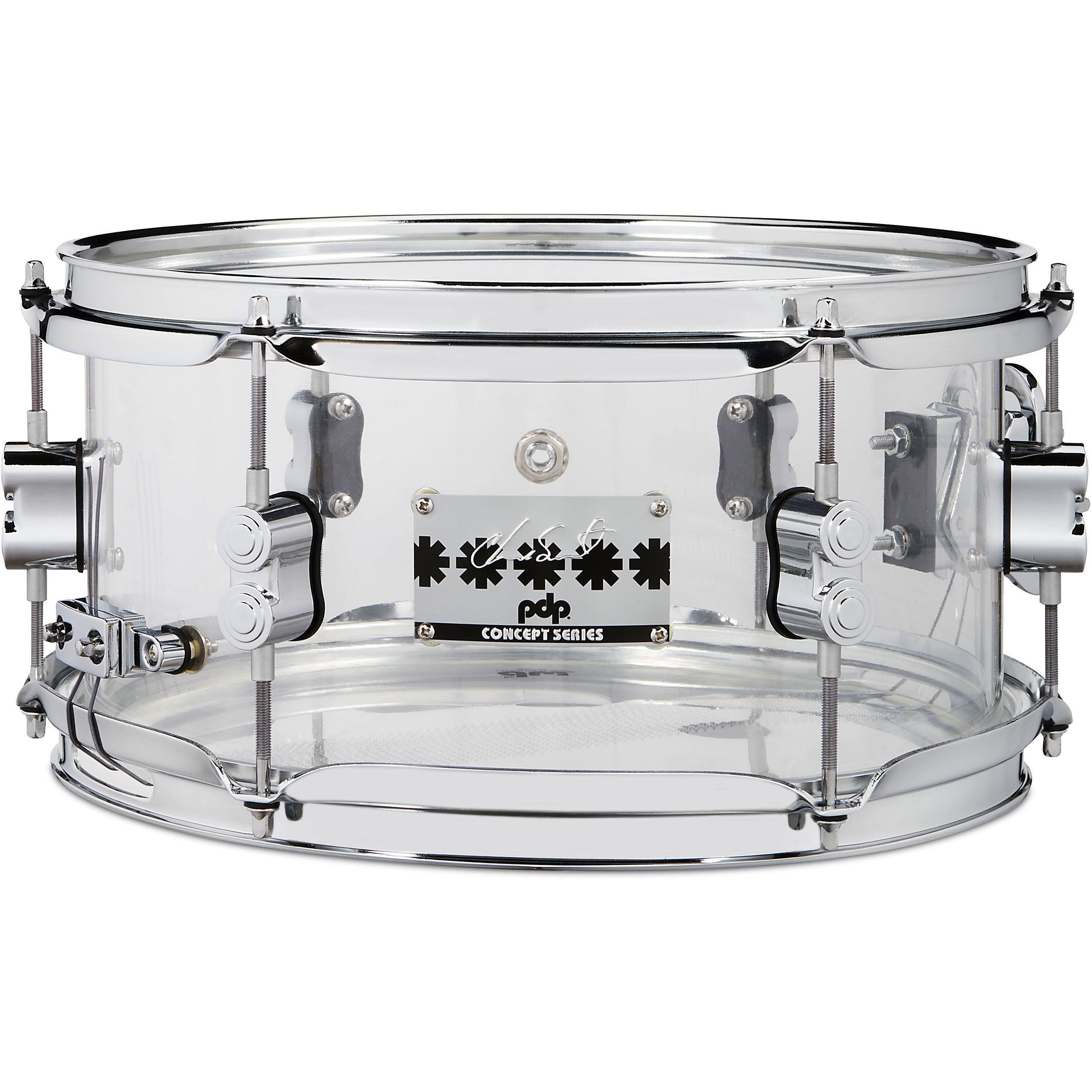 "PDP 6"" x 12"" Chad Smith Signature Clear Acrylic Snare Drum"