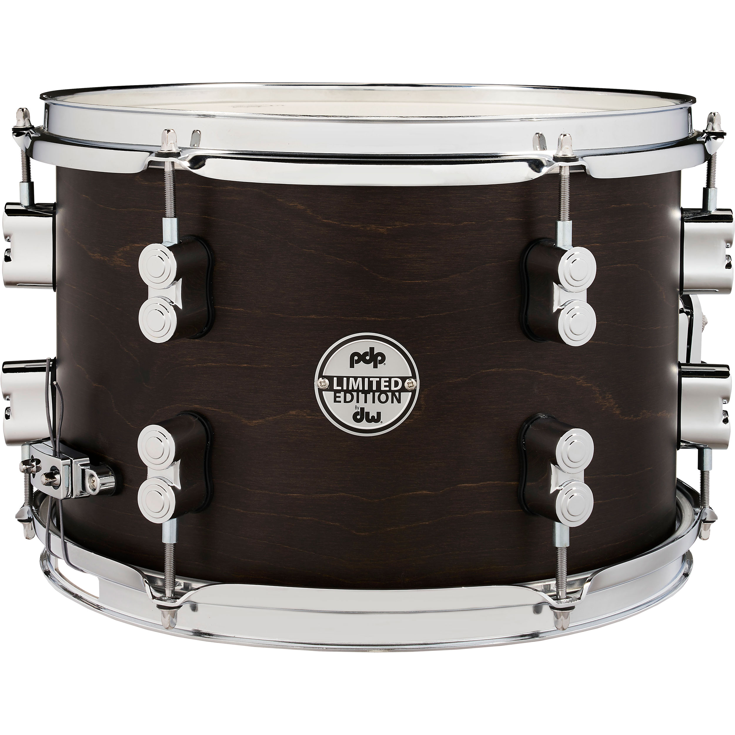 """PDP 8"""" x 12"""" Limited Edition Series Dry Maple Snare Drum in Dark Walnut"""