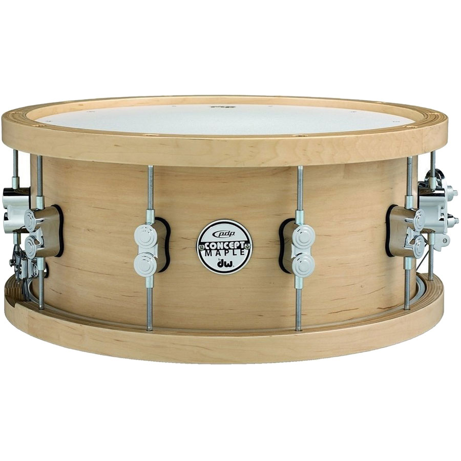 """PDP 6.5"""" x 14"""" Concept Maple Snare Drum with Wood Hoops"""