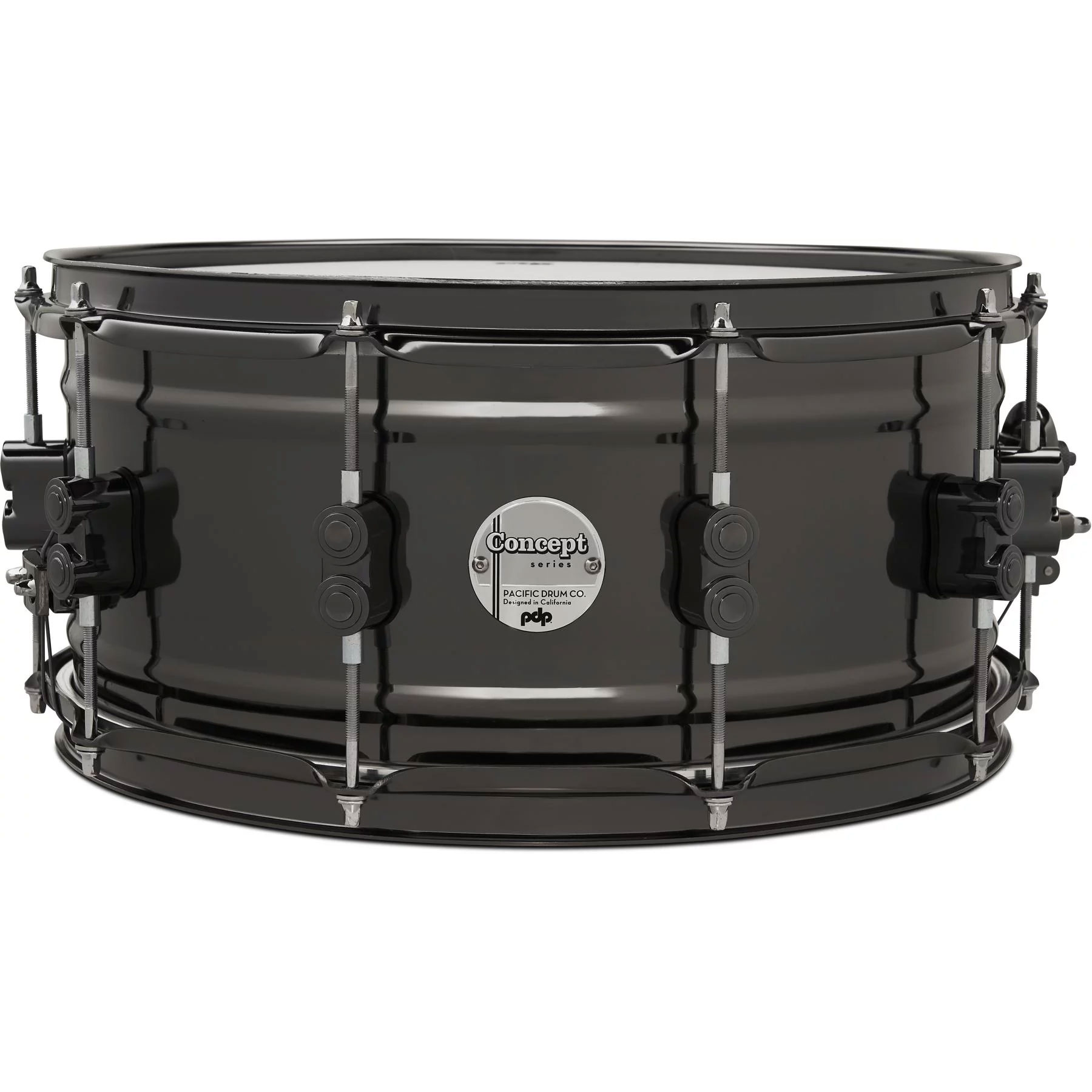 """PDP 6.5"""" x 14"""" Concept 1mm Black Nickel Over Brass Snare Drum"""
