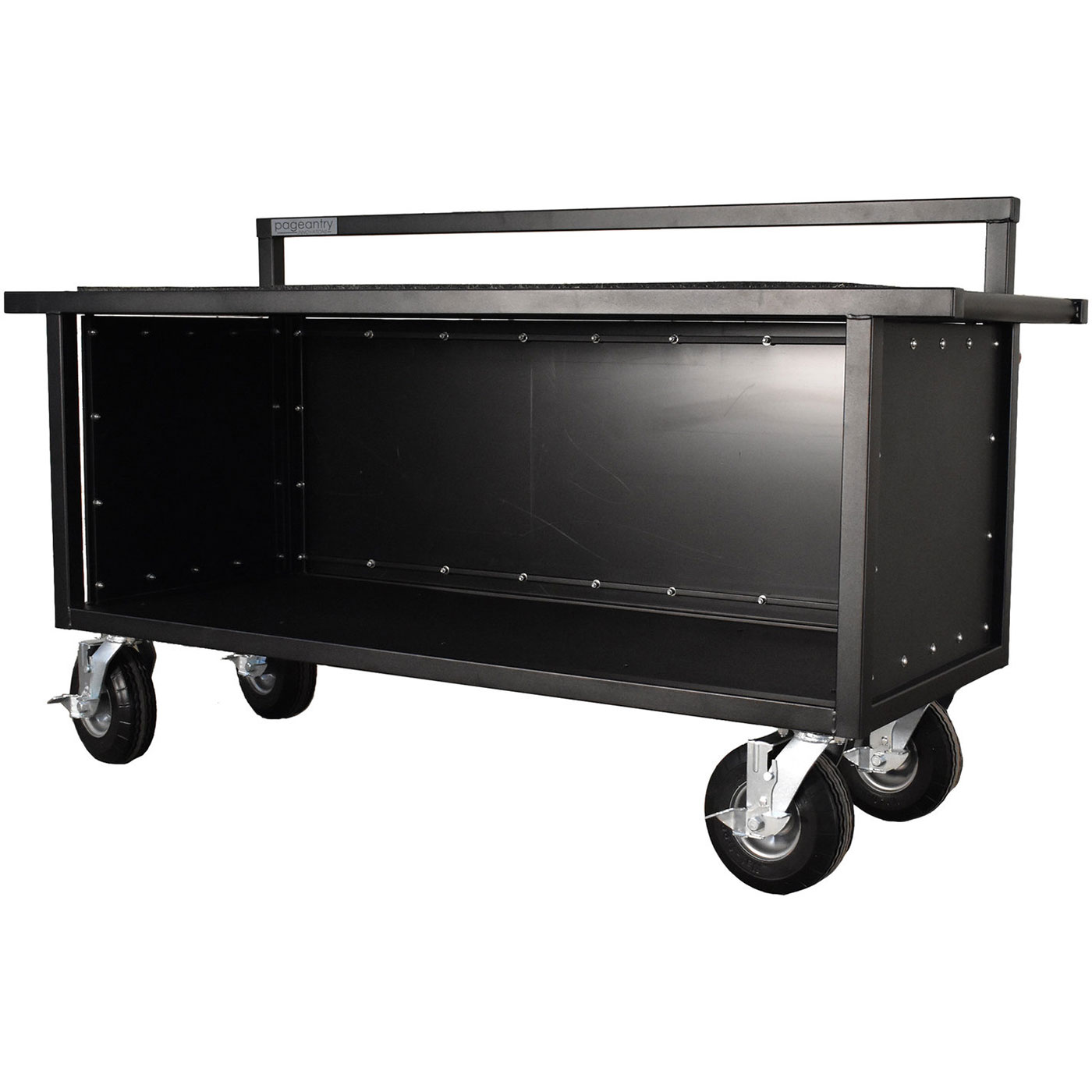 "Pageantry Innovations Partially Enclosed Synthesizer Cart (39"" H x 68"" W x 24"" D)"