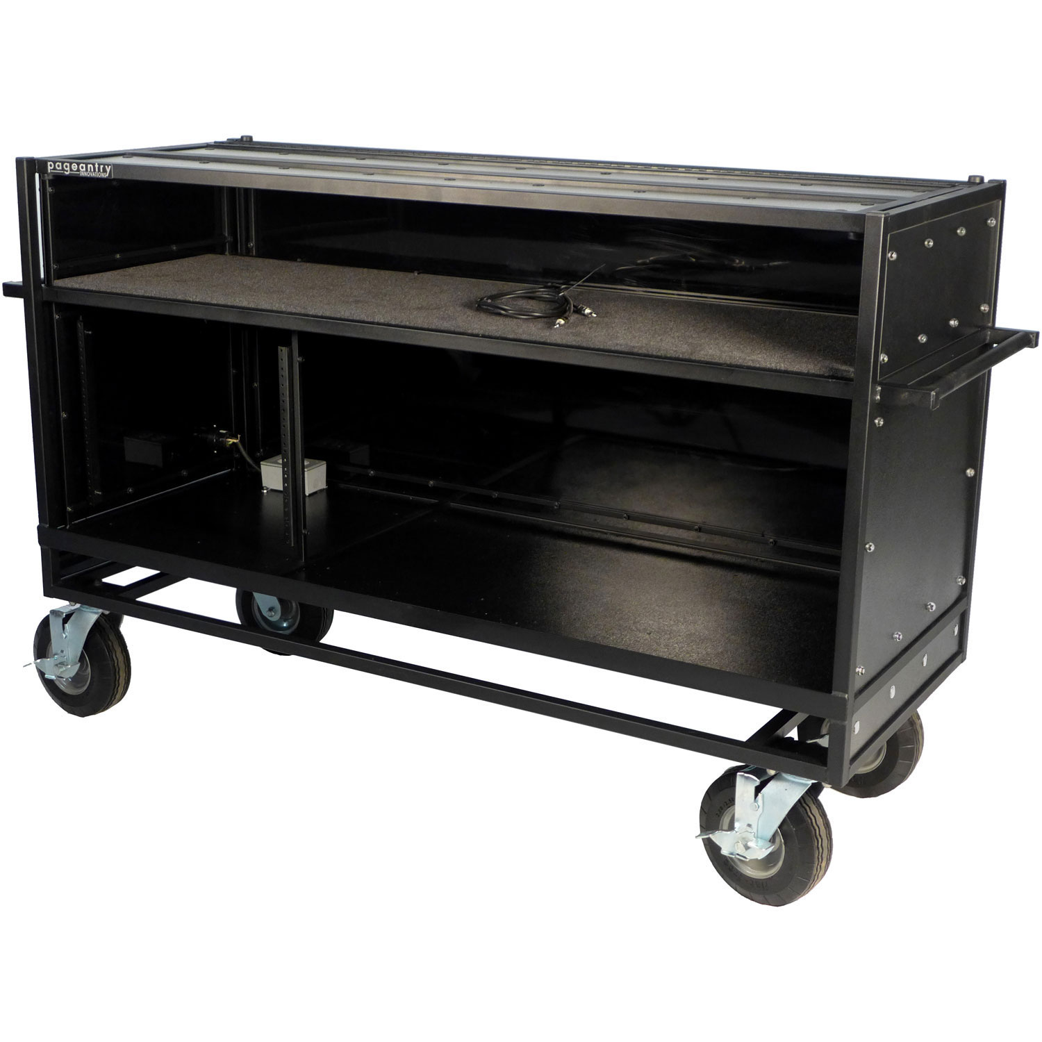 Pageantry Innovations Standard Enclosed Synthesizer Cart with Bi-Fold Top Cover