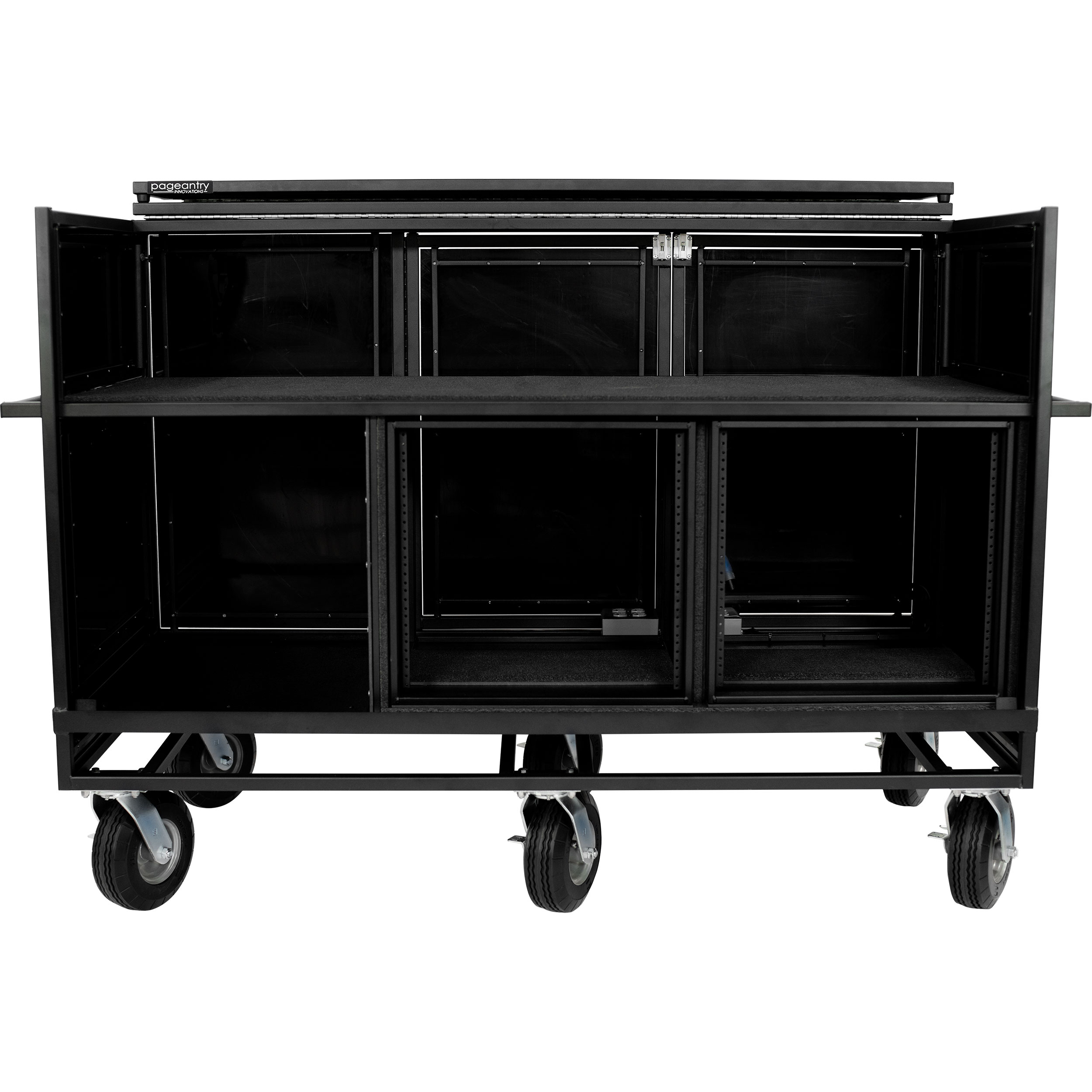 Pageantry Innovations Standard Triple Mixer Cart with Bi-Fold Top Cover
