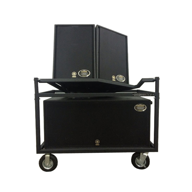 Pageantry Innovations SC-20-2S Double Speaker Cart