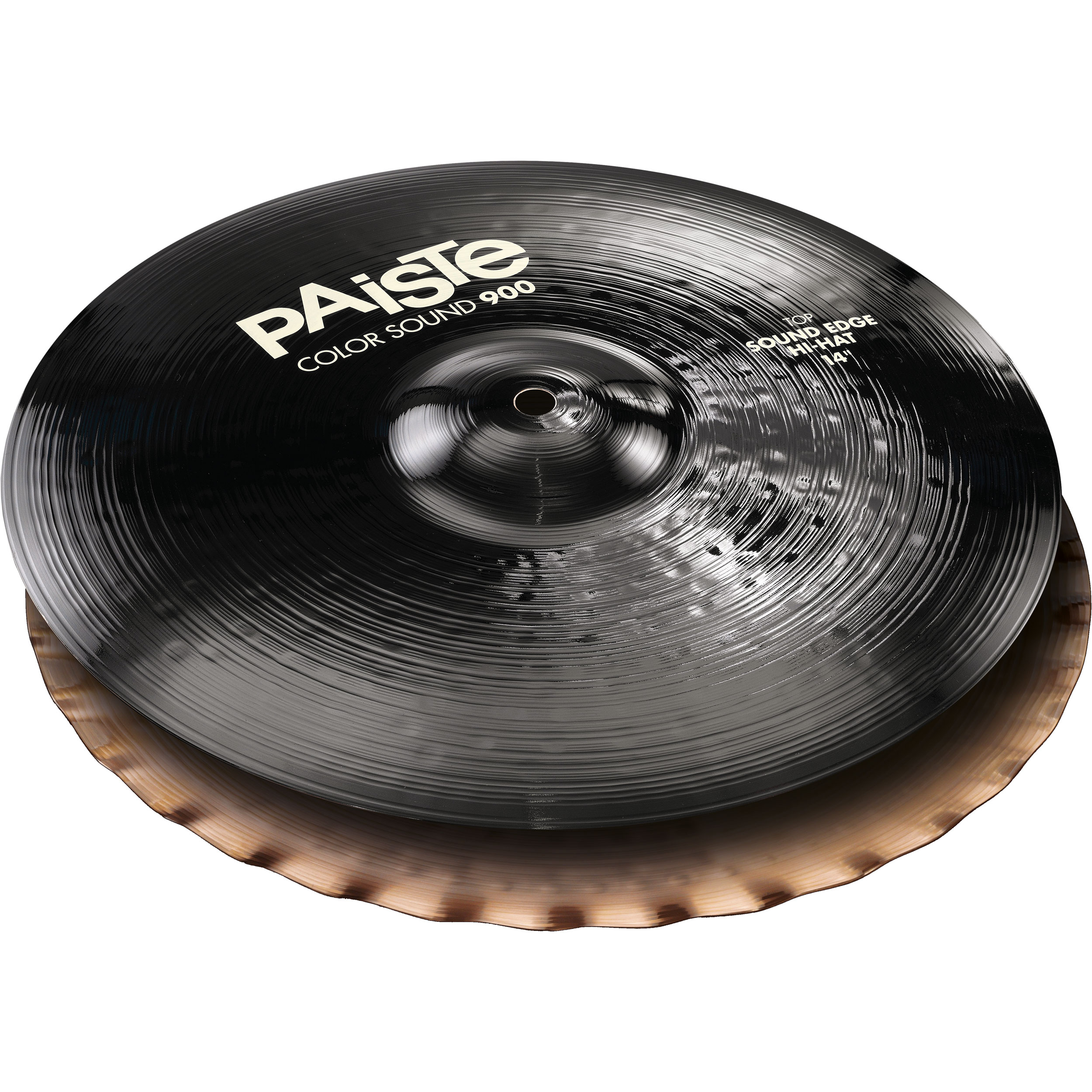 "Paiste 14"" Color Sound 900 Black Sound Edge Hi Hat Cymbals"