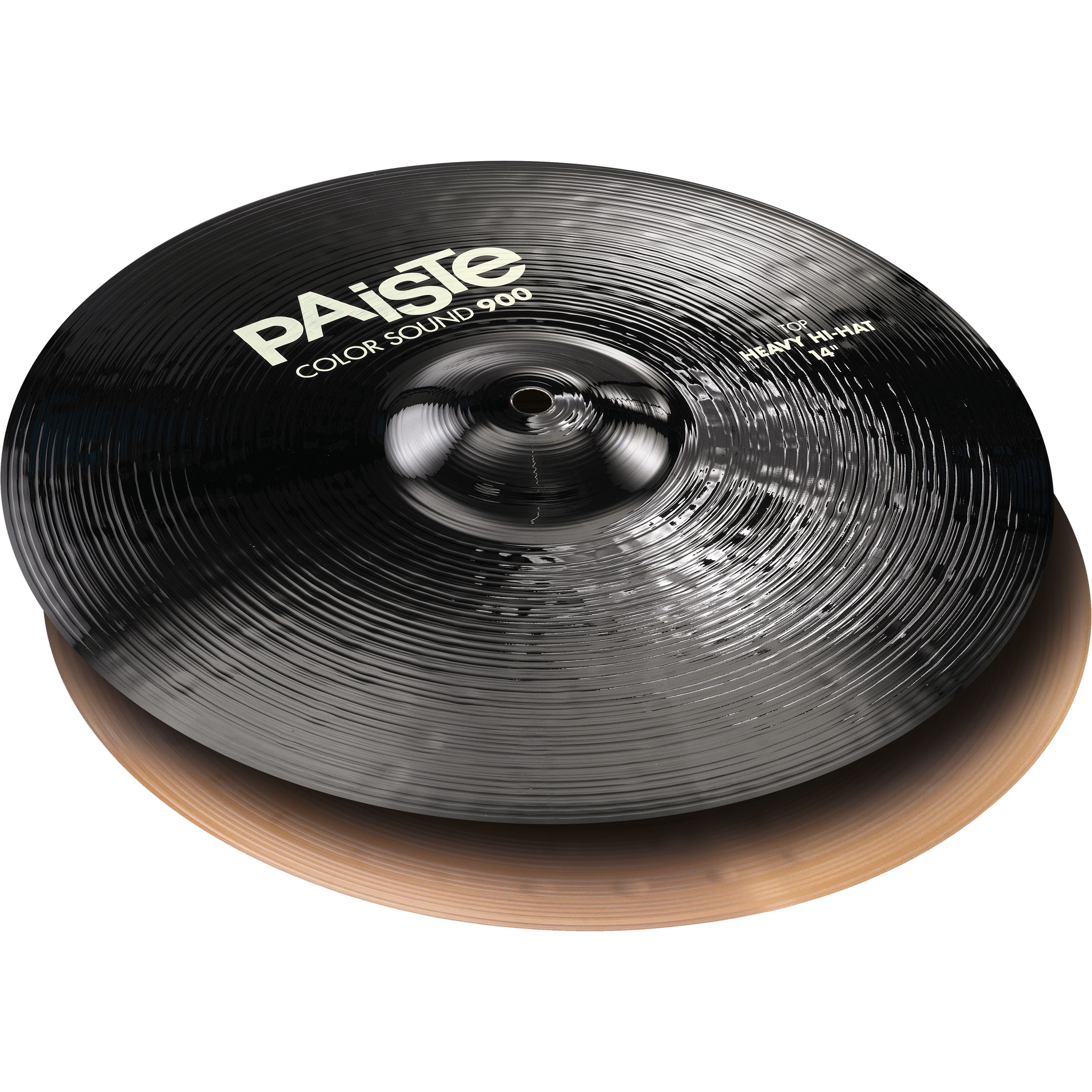 "Paiste 14"" Color Sound 900 Black Heavy Hi Hat Cymbals"